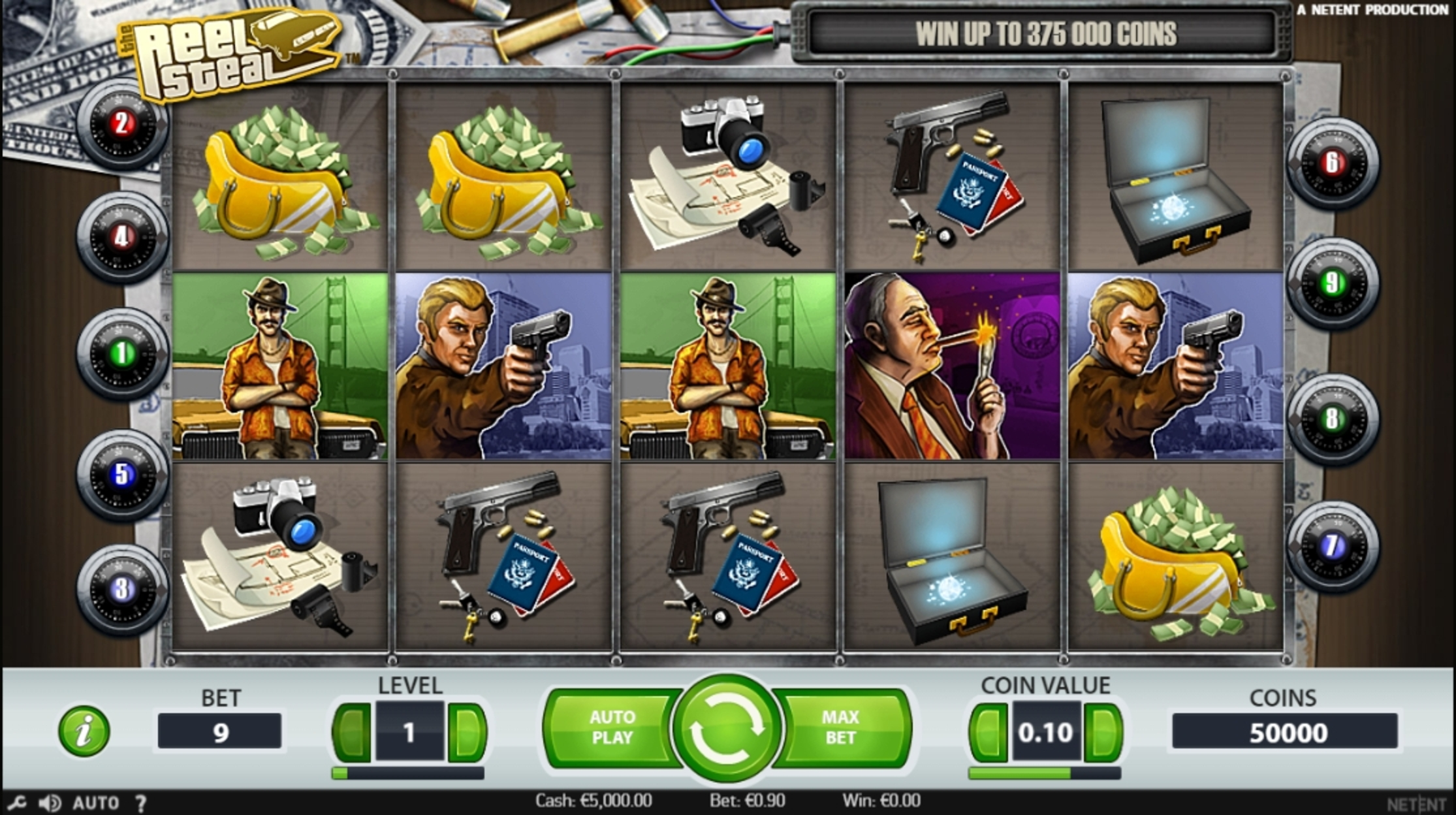 Reels in Reel Steal Slot Game by NetEnt