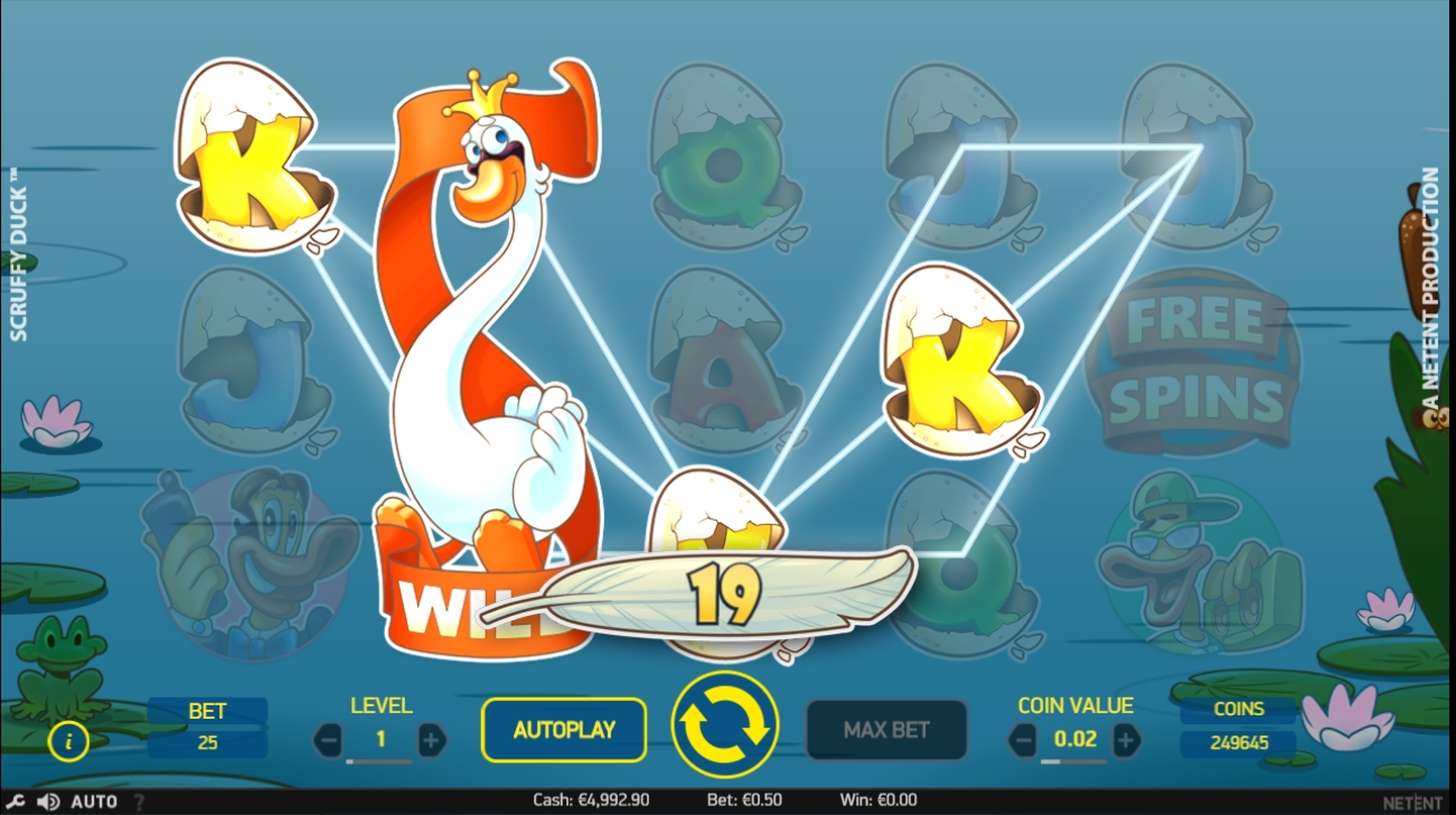 Win Money in Scruffy Duck Free Slot Game by NetEnt