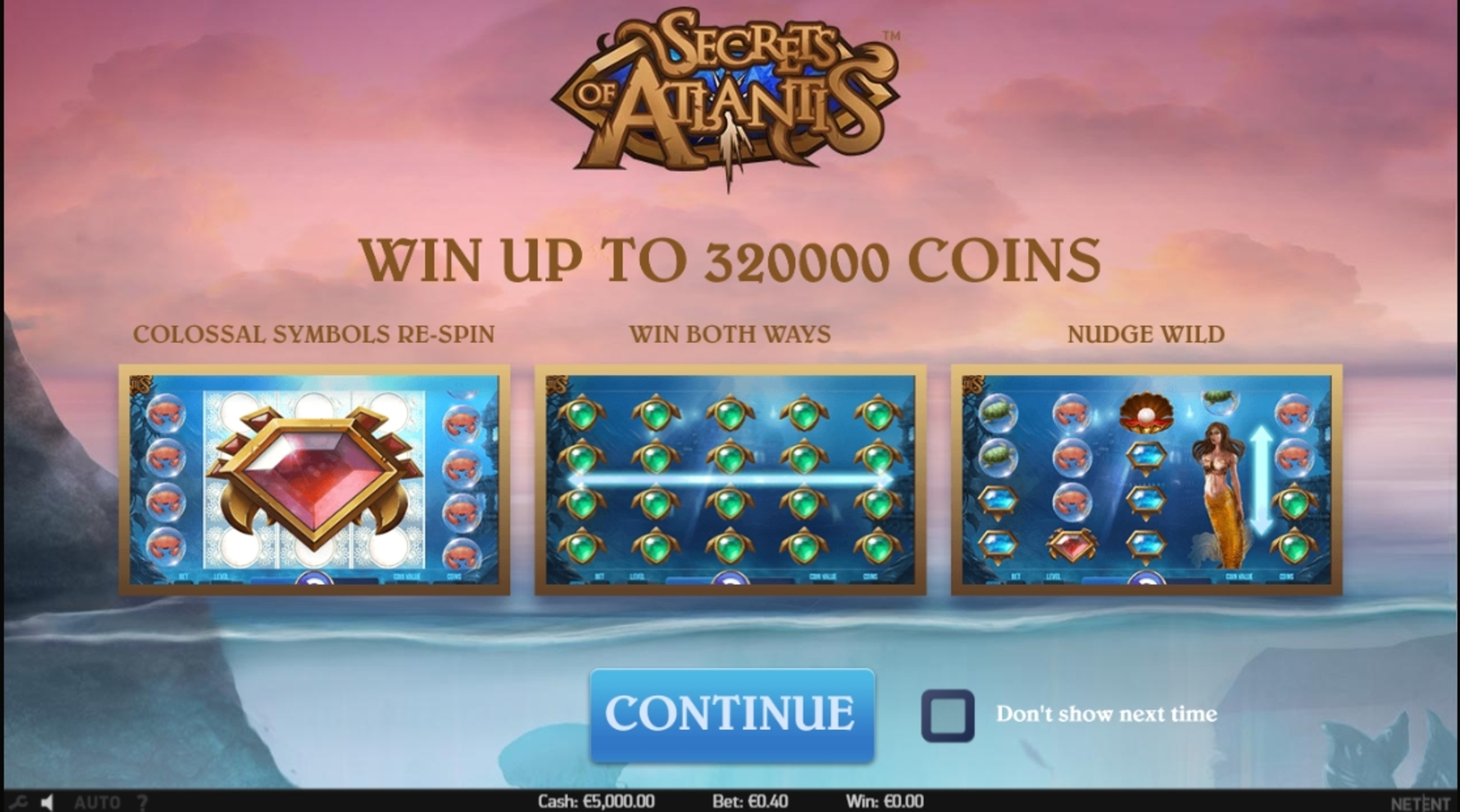 Play Secrets of Atlantis Free Casino Slot Game by NetEnt