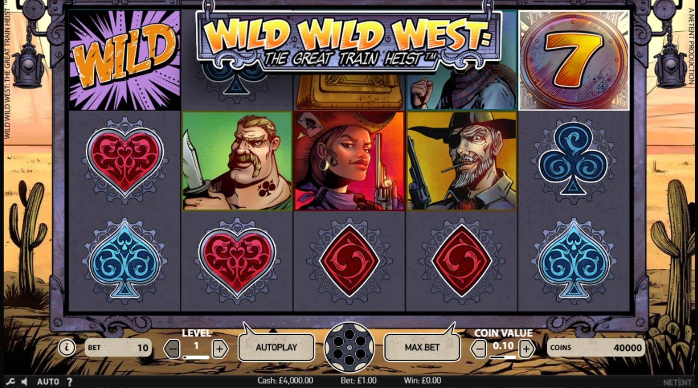 Reels in Wild Wild West Slot Game by NetEnt