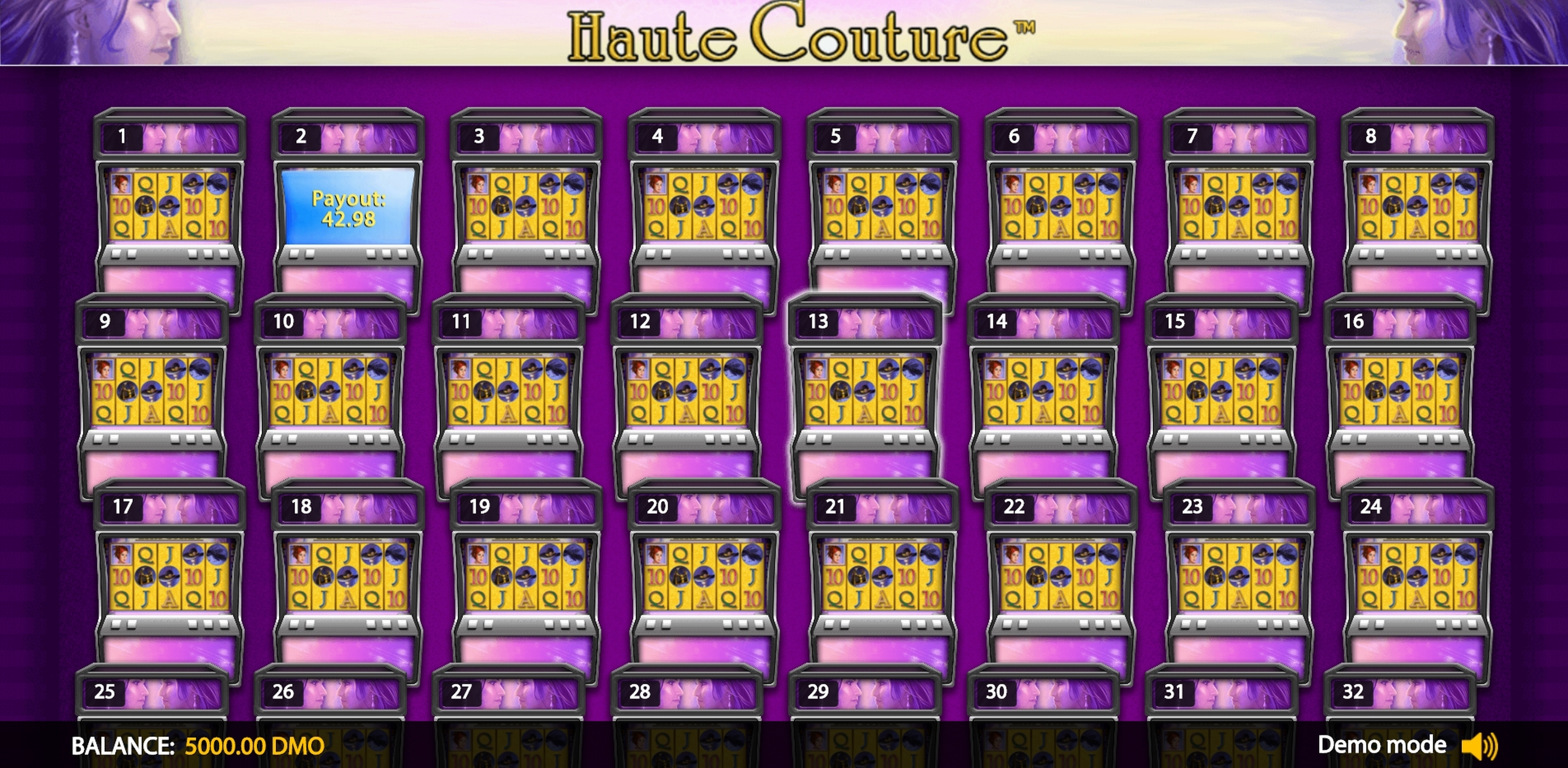 Play Haute Couture Deluxe Free Casino Slot Game by Novomatic