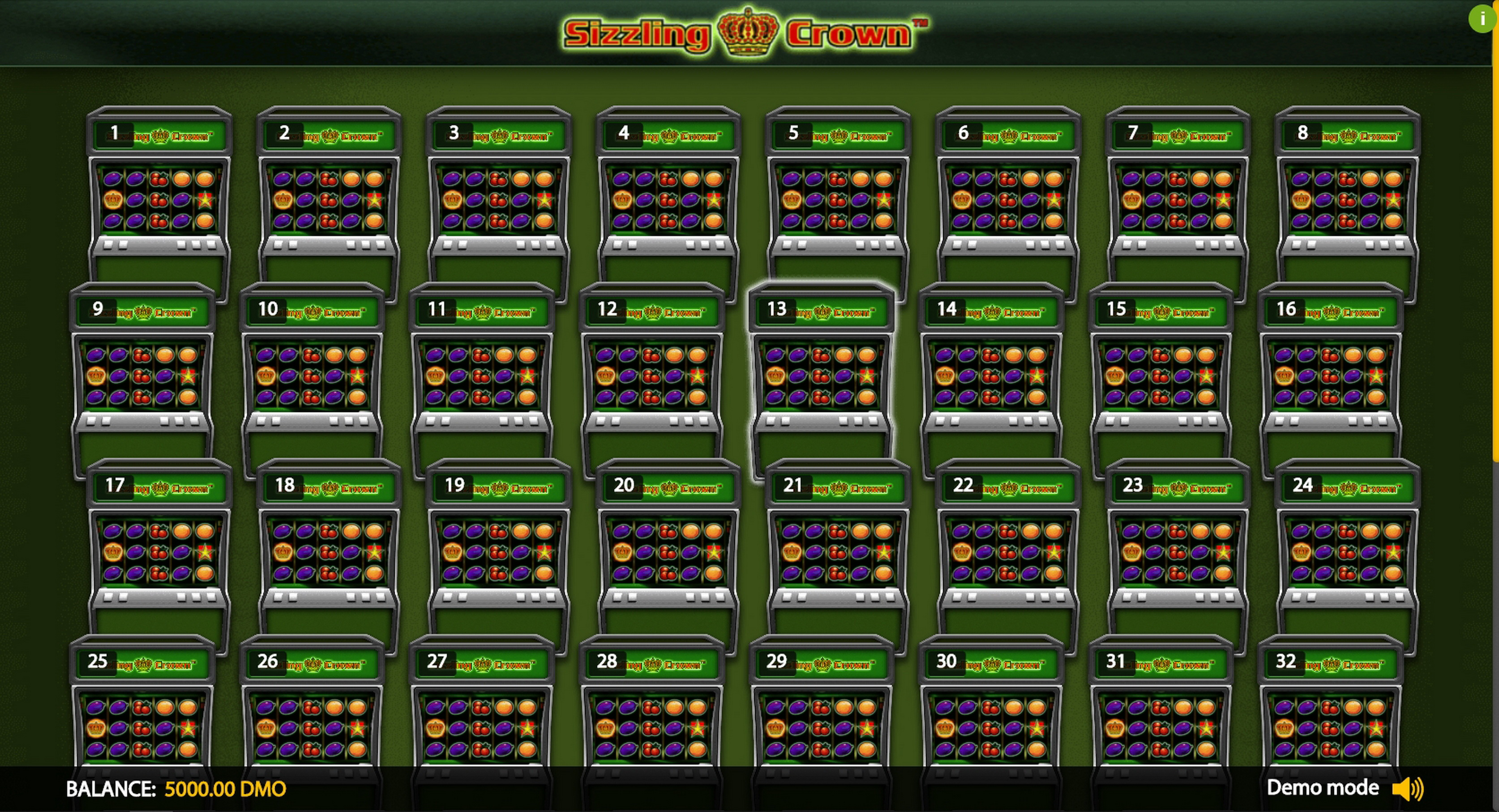Play Sizzling Crown Deluxe Free Casino Slot Game by Novomatic