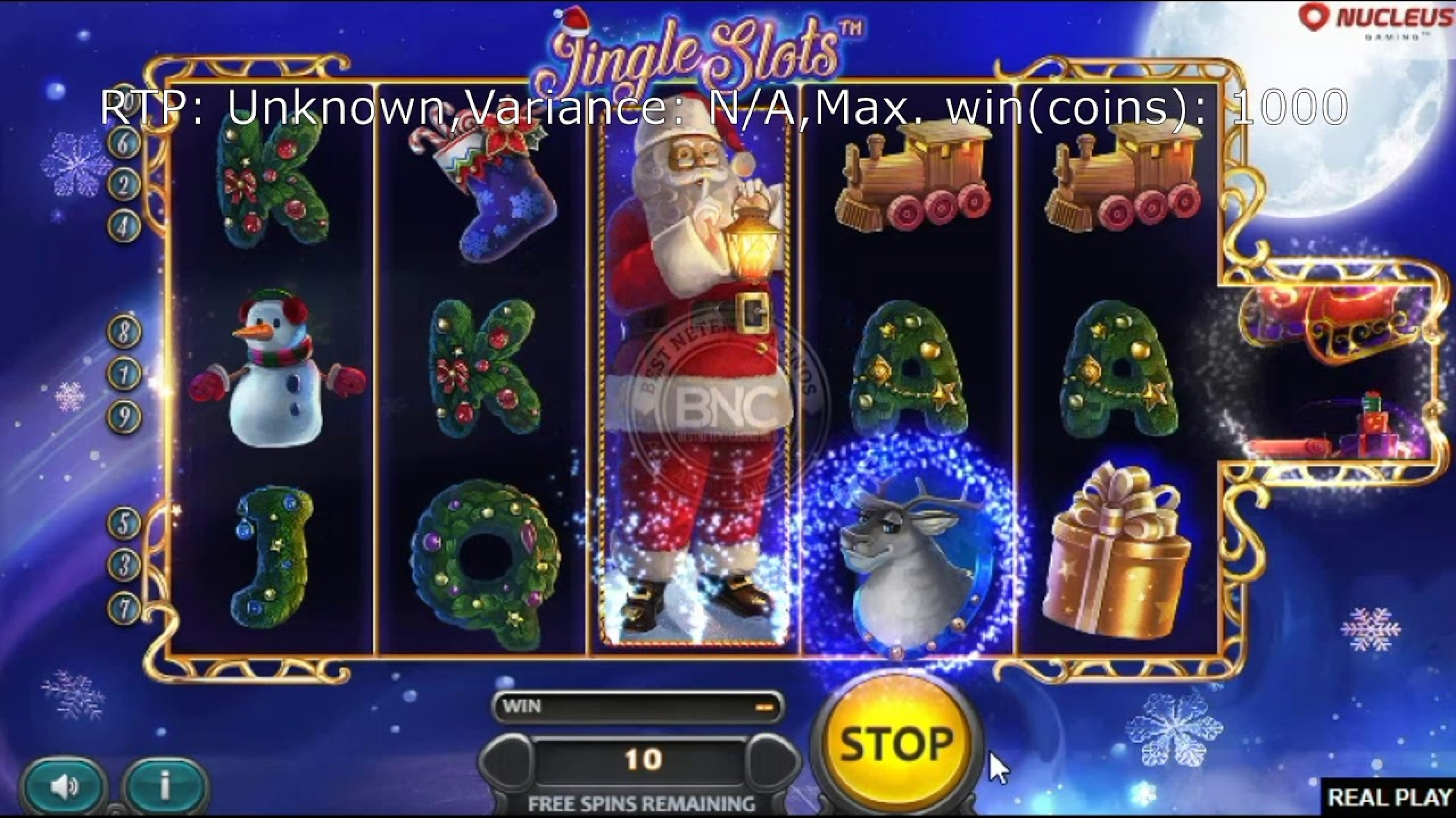 The Jingle Slots Online Slot Demo Game by Nucleus Gaming