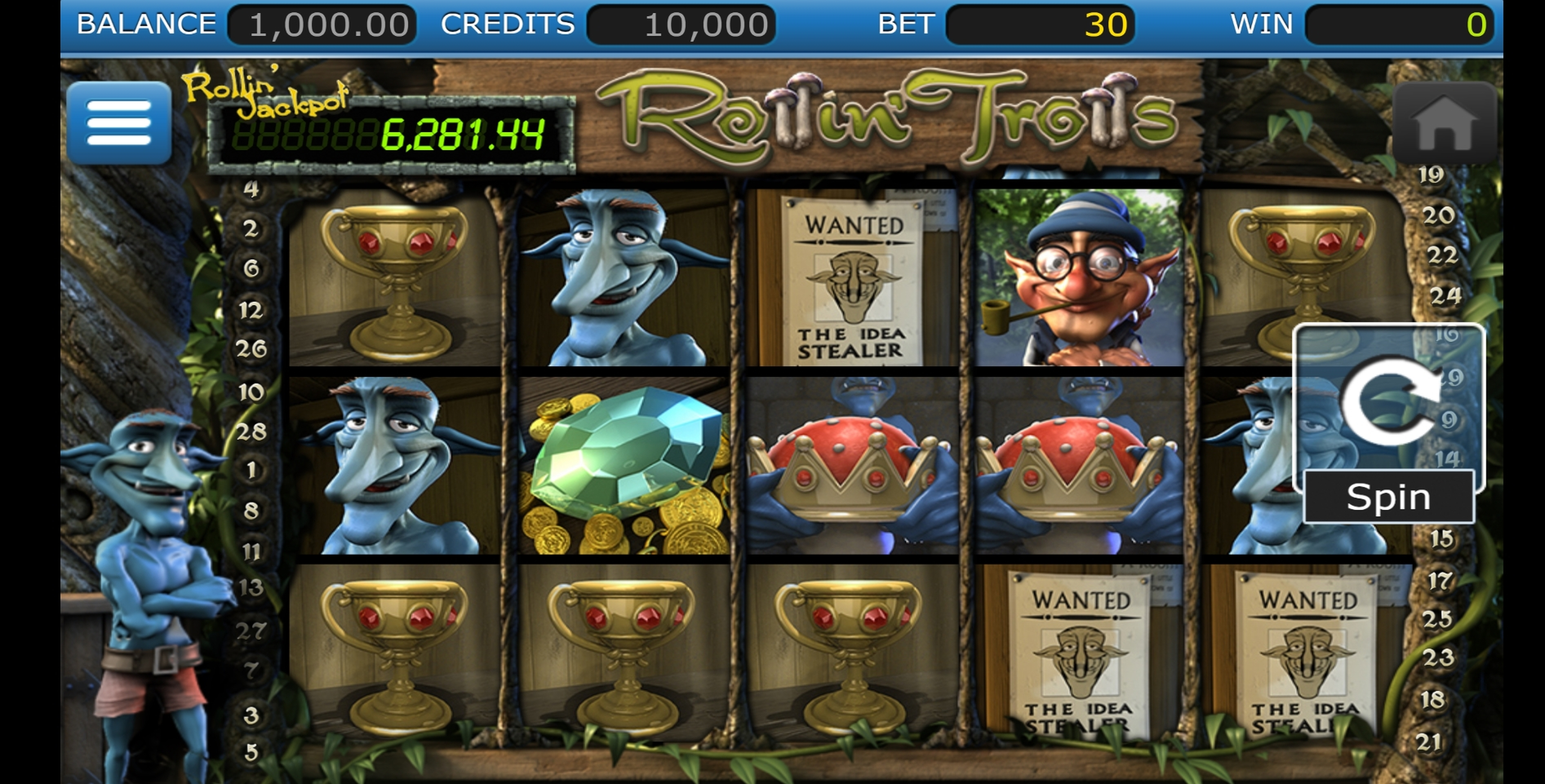 Reels in Rollin Trolls Slot Game by Nucleus Gaming