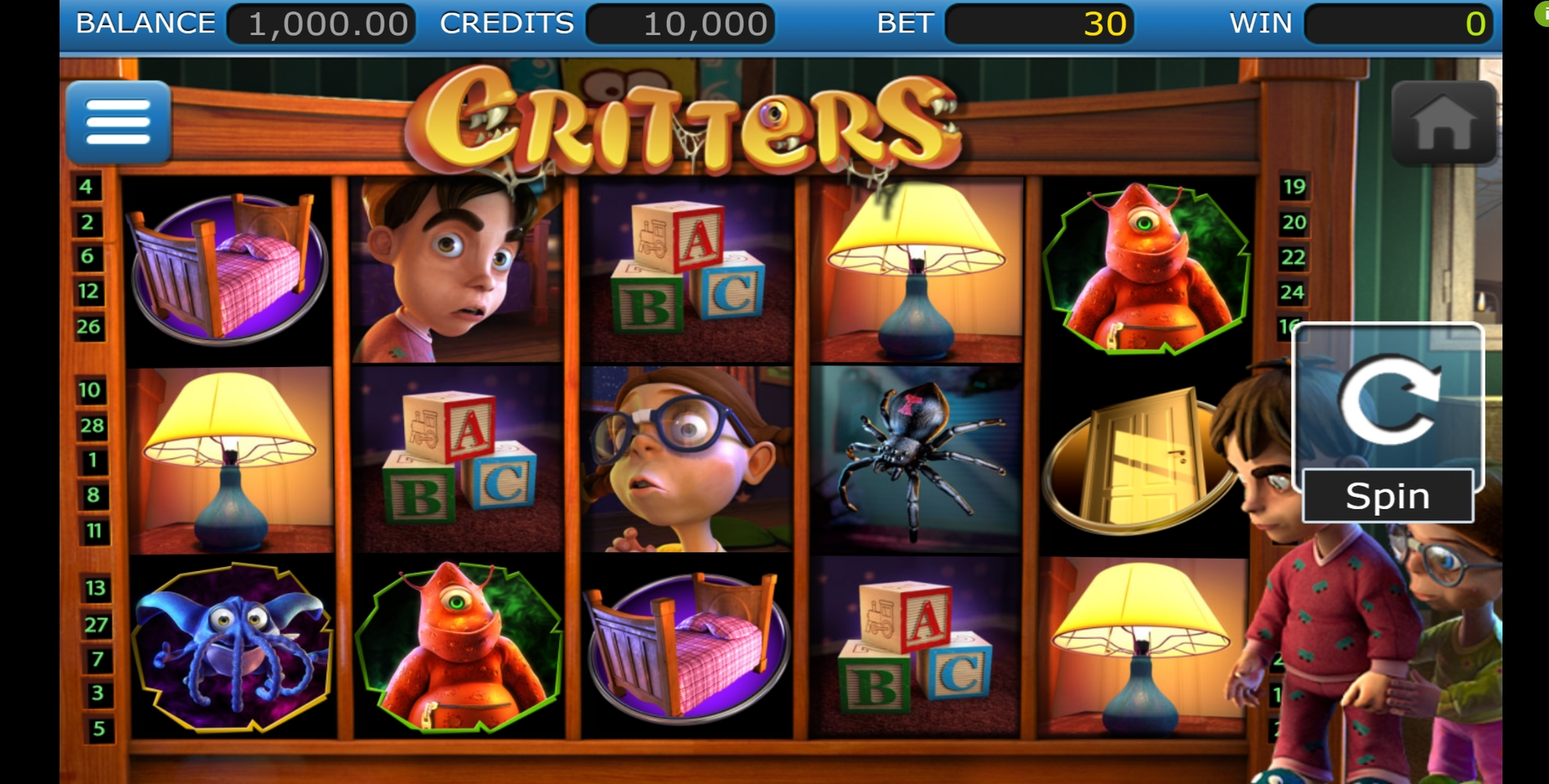 Reels in The Critters Slot Game by Nucleus Gaming