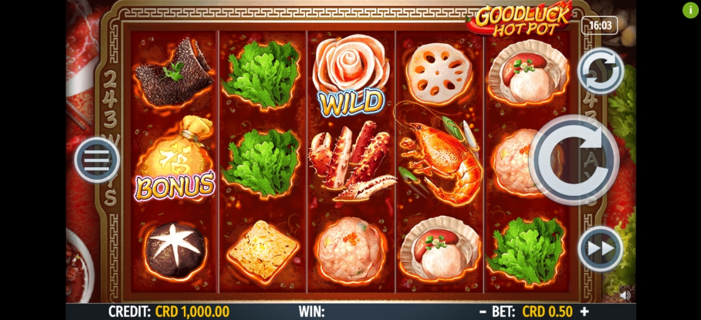 Reels in Goodluck Hot Pot Slot Game by Octavian Gaming