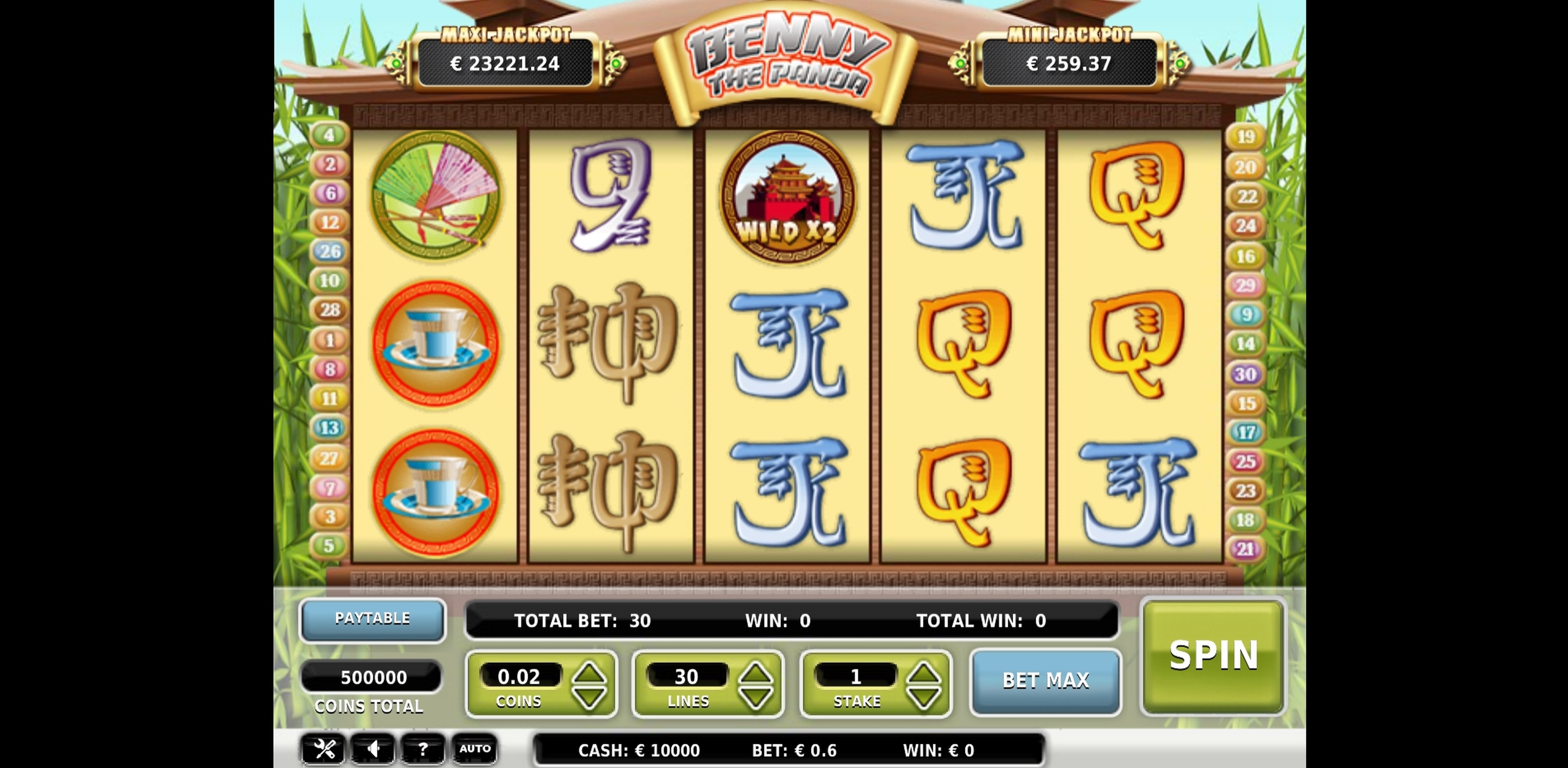 Reels in Benny the Panda Slot Game by OMI Gaming