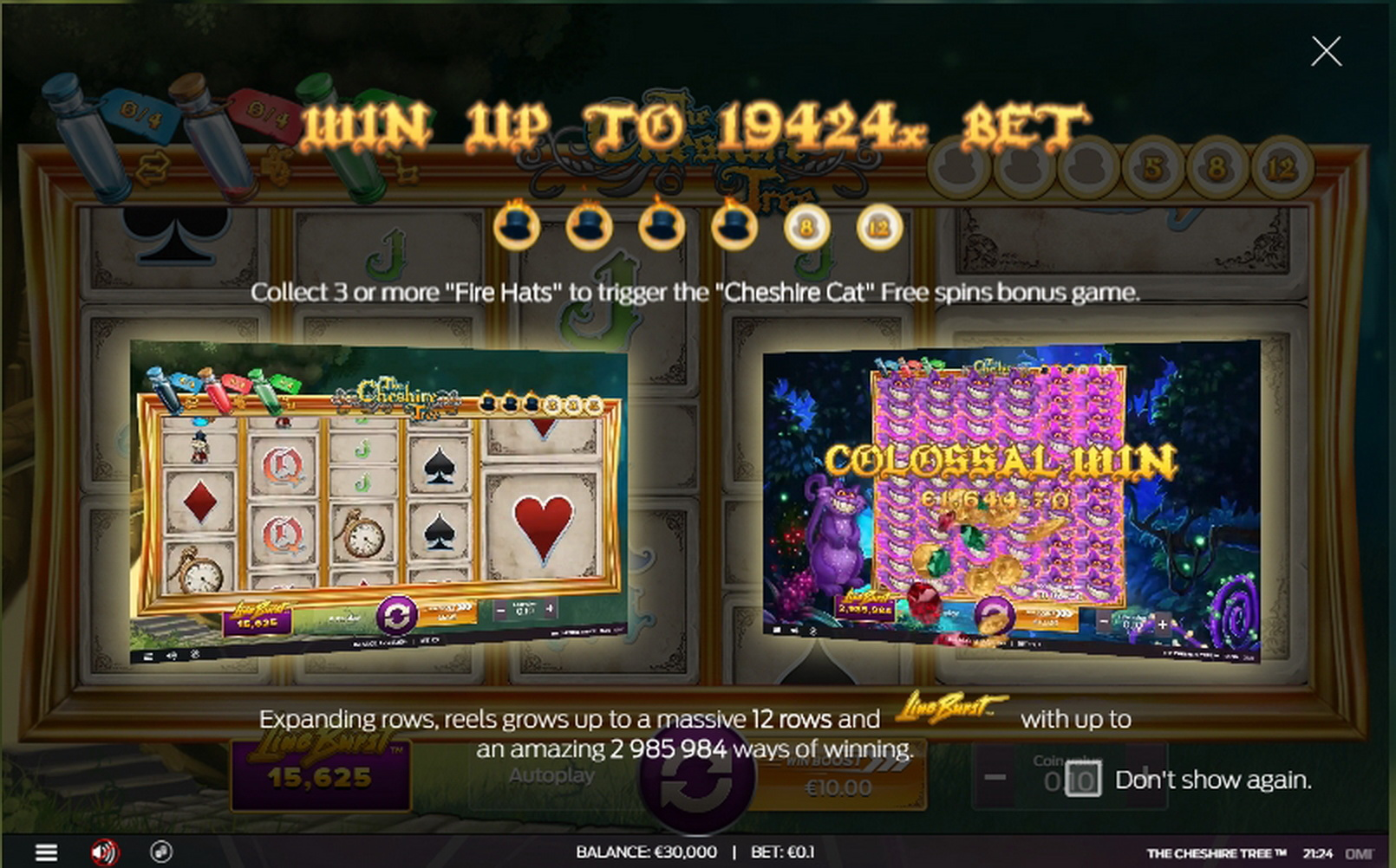 Play The Cheshire Tree Free Casino Slot Game by OMI Gaming