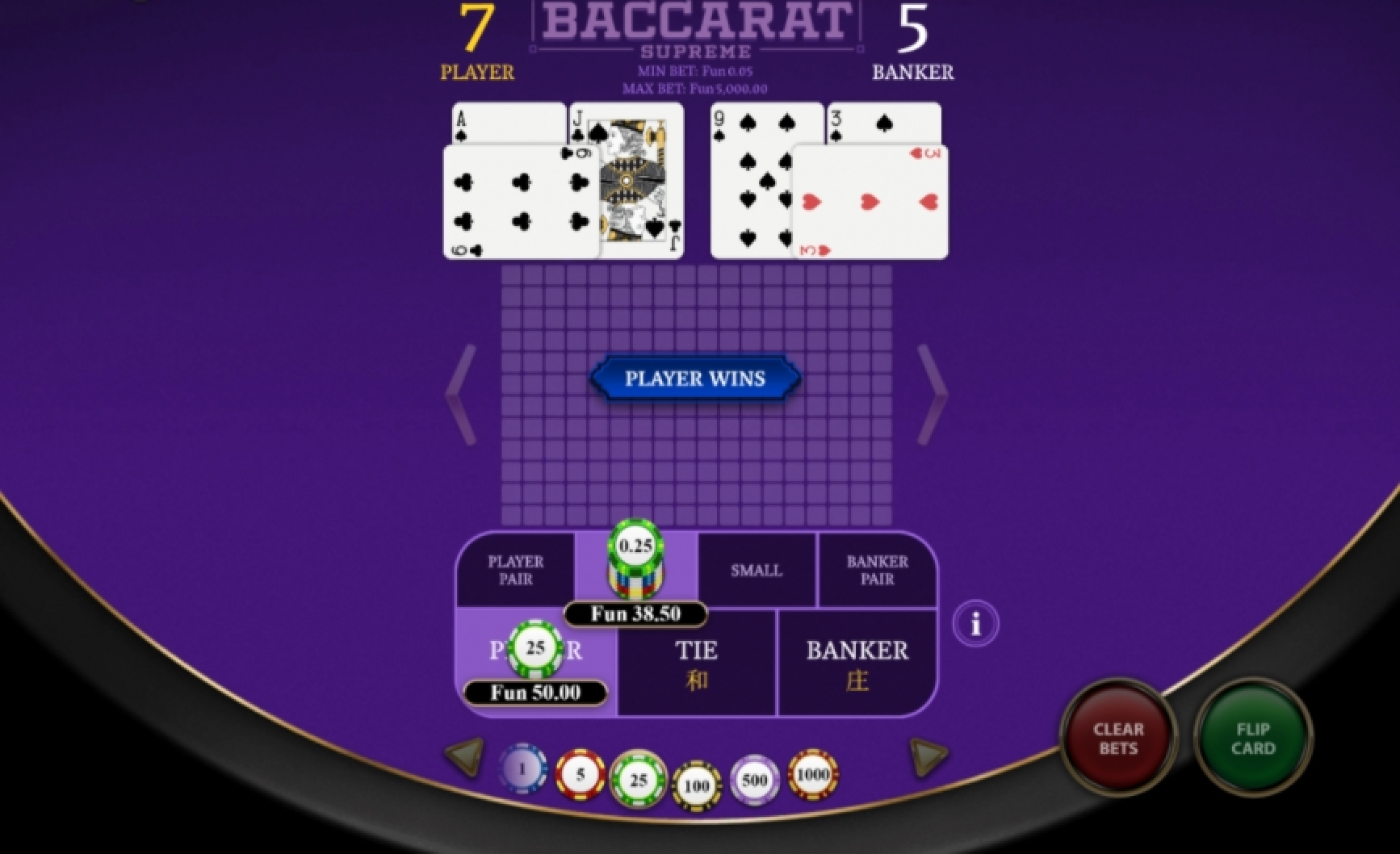 The Baccarat Supreme Online Slot Demo Game by OneTouch