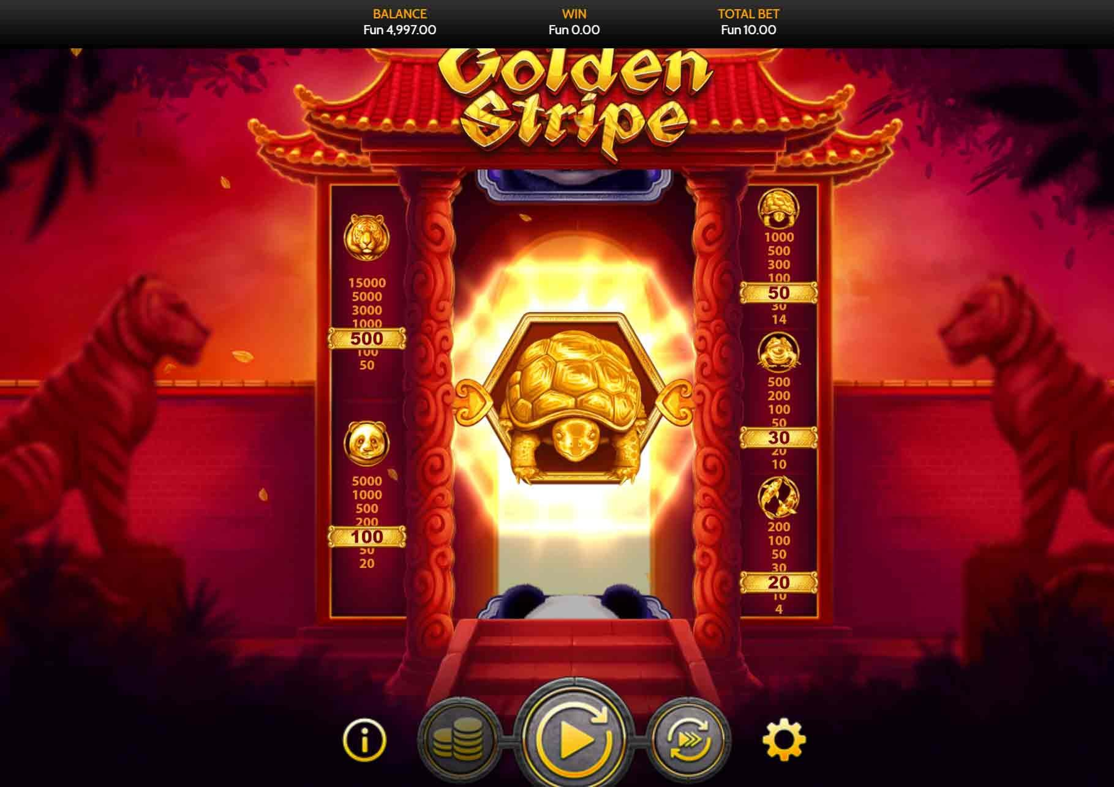 The Golden Stripe Online Slot Demo Game by OneTouch