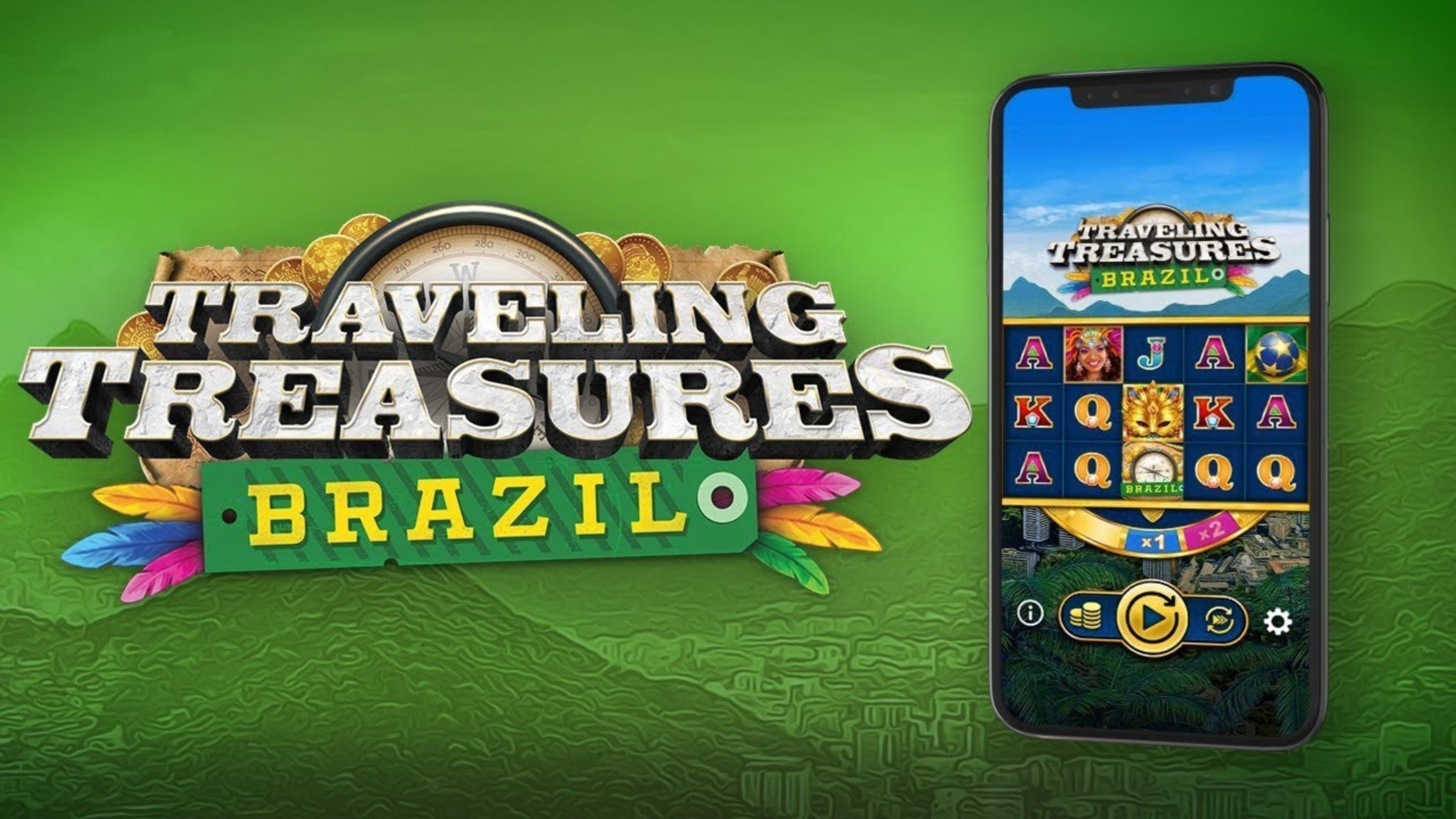 The Travelling Treasures Brazil Online Slot Demo Game by OneTouch