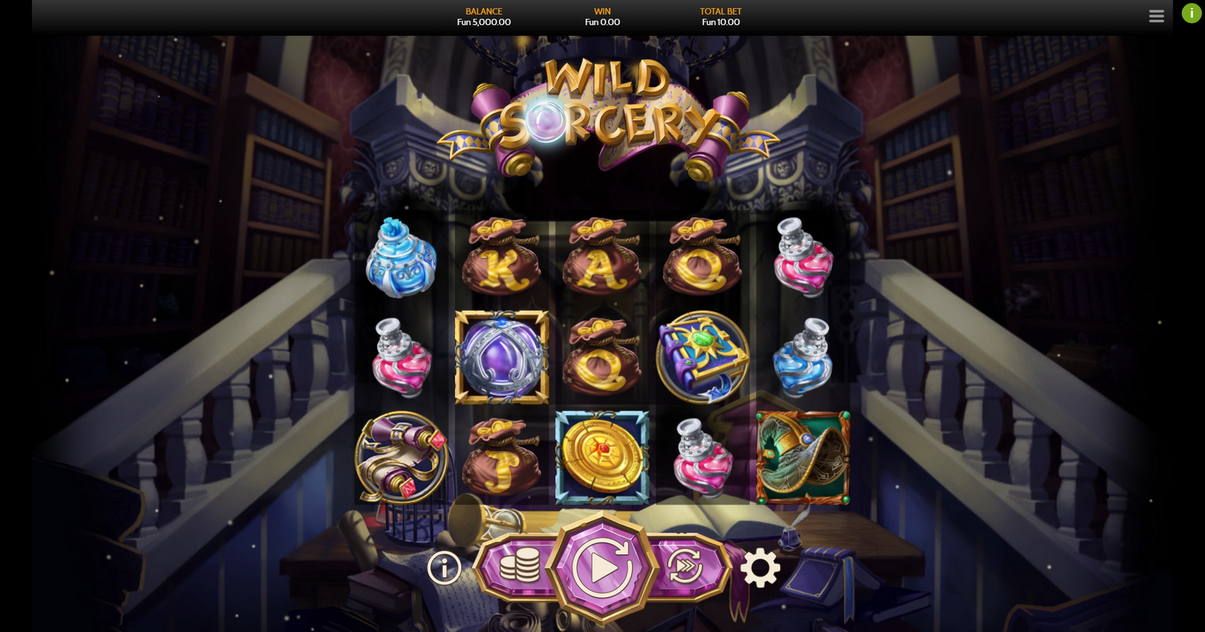 Reels in Wild Sorcery Slot Game by OneTouch Games