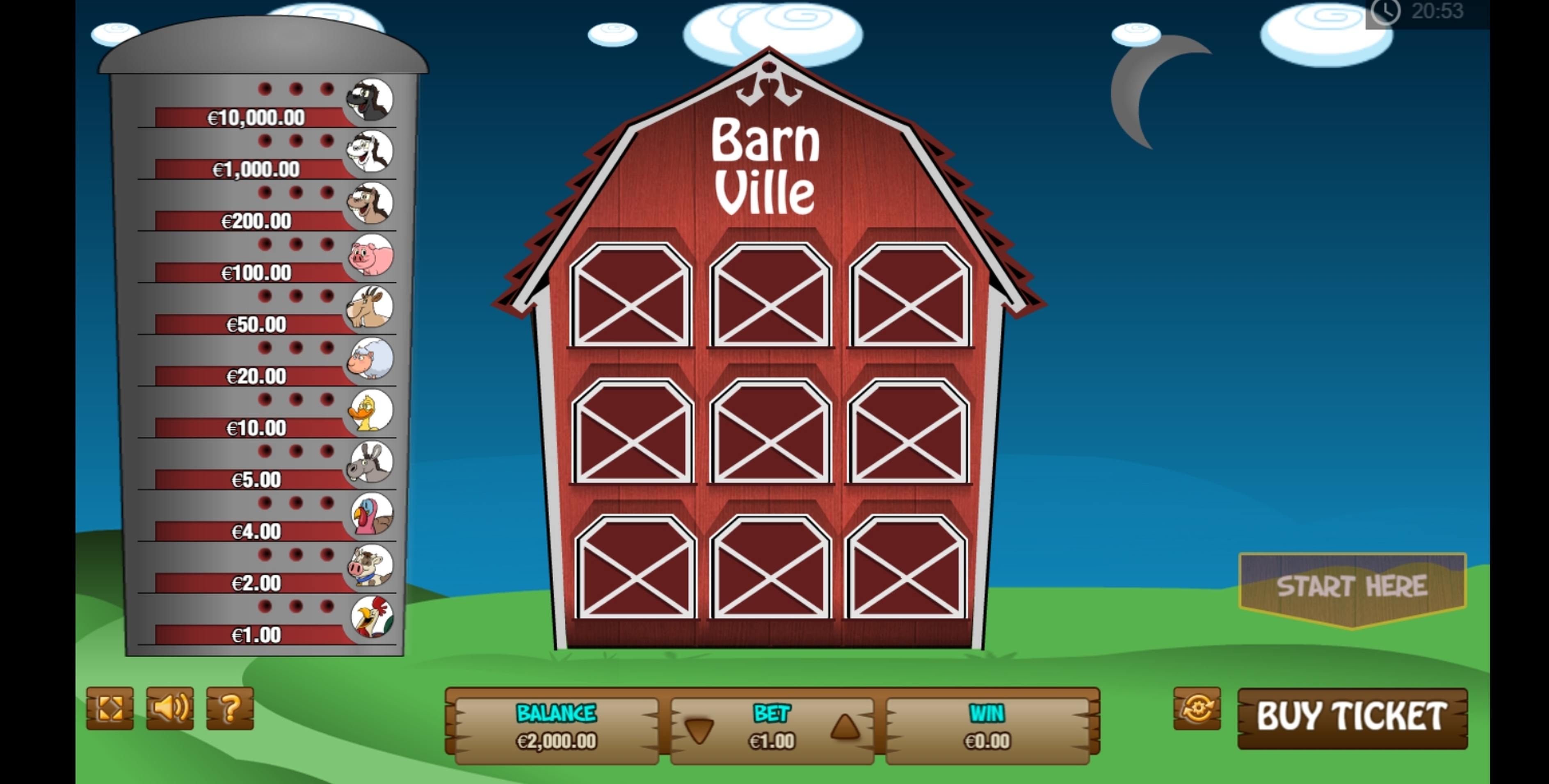 Reels in Barn Ville Scratch Slot Game by PariPlay