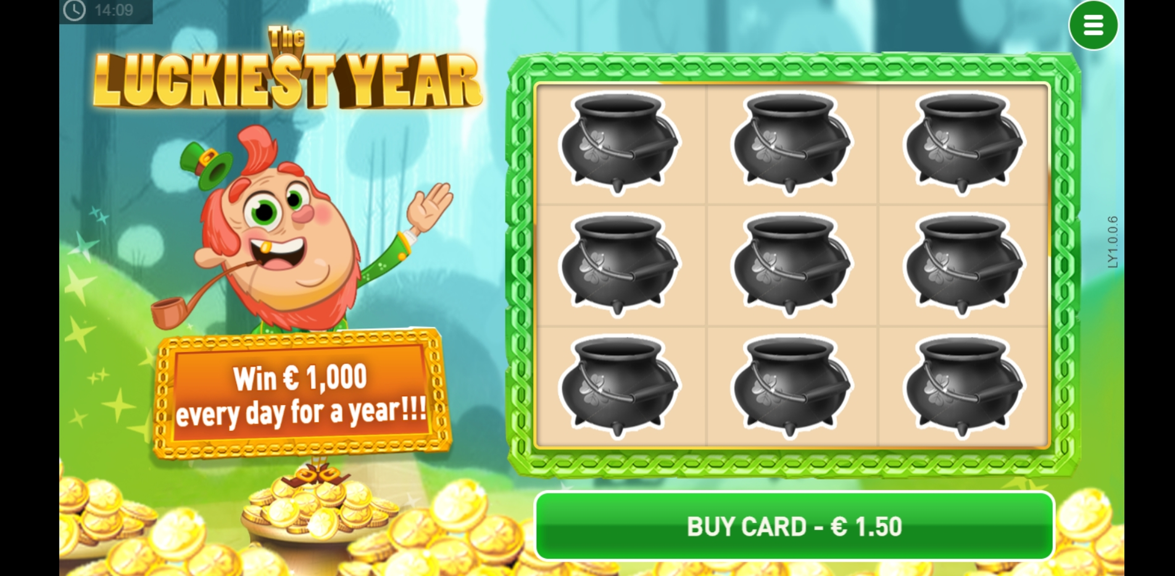 Reels in The Luckiest Year Scratch Slot Game by PariPlay