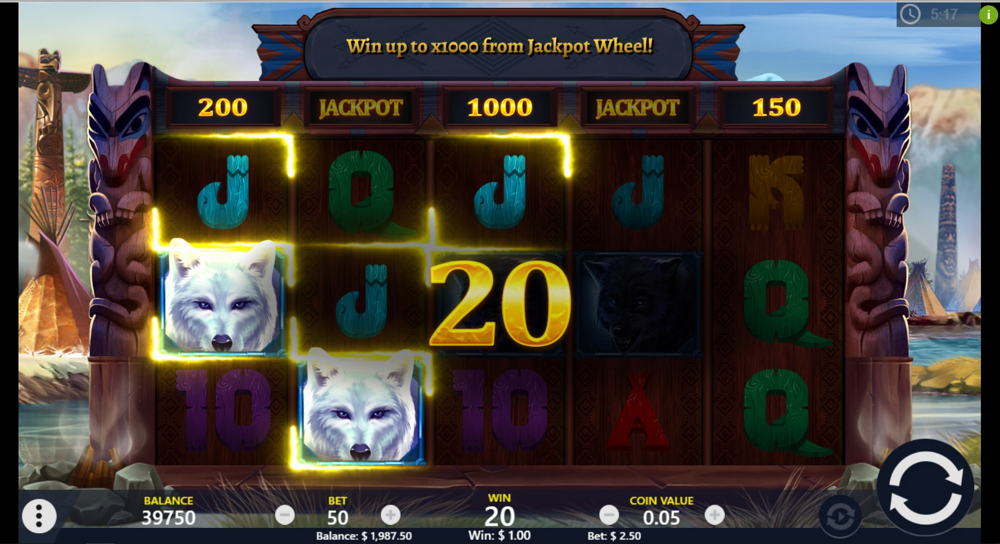 Win Money in Wolf Riches Free Slot Game by PariPlay