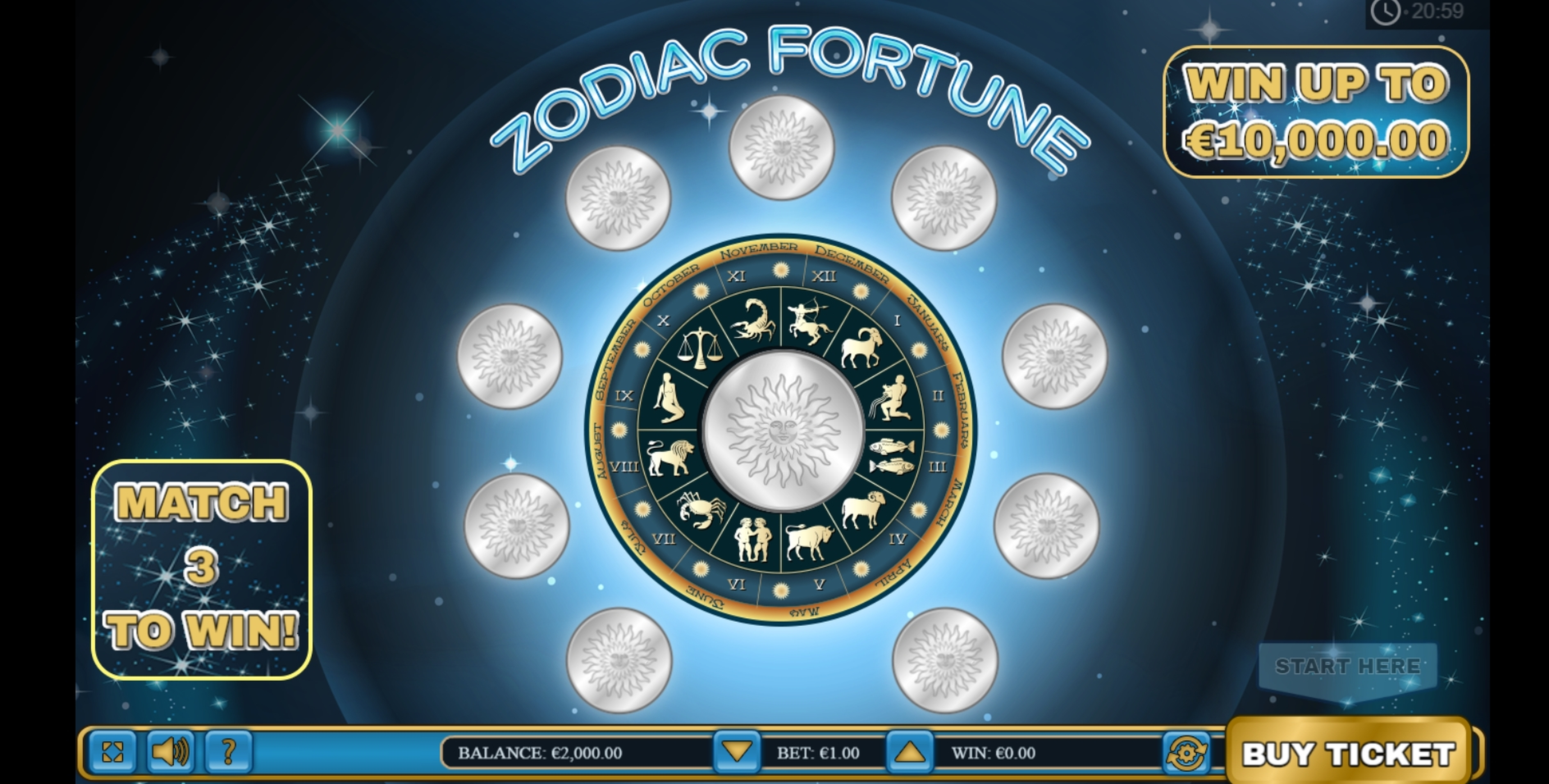 Reels in Zodiac Fortune Scratch Slot Game by PariPlay