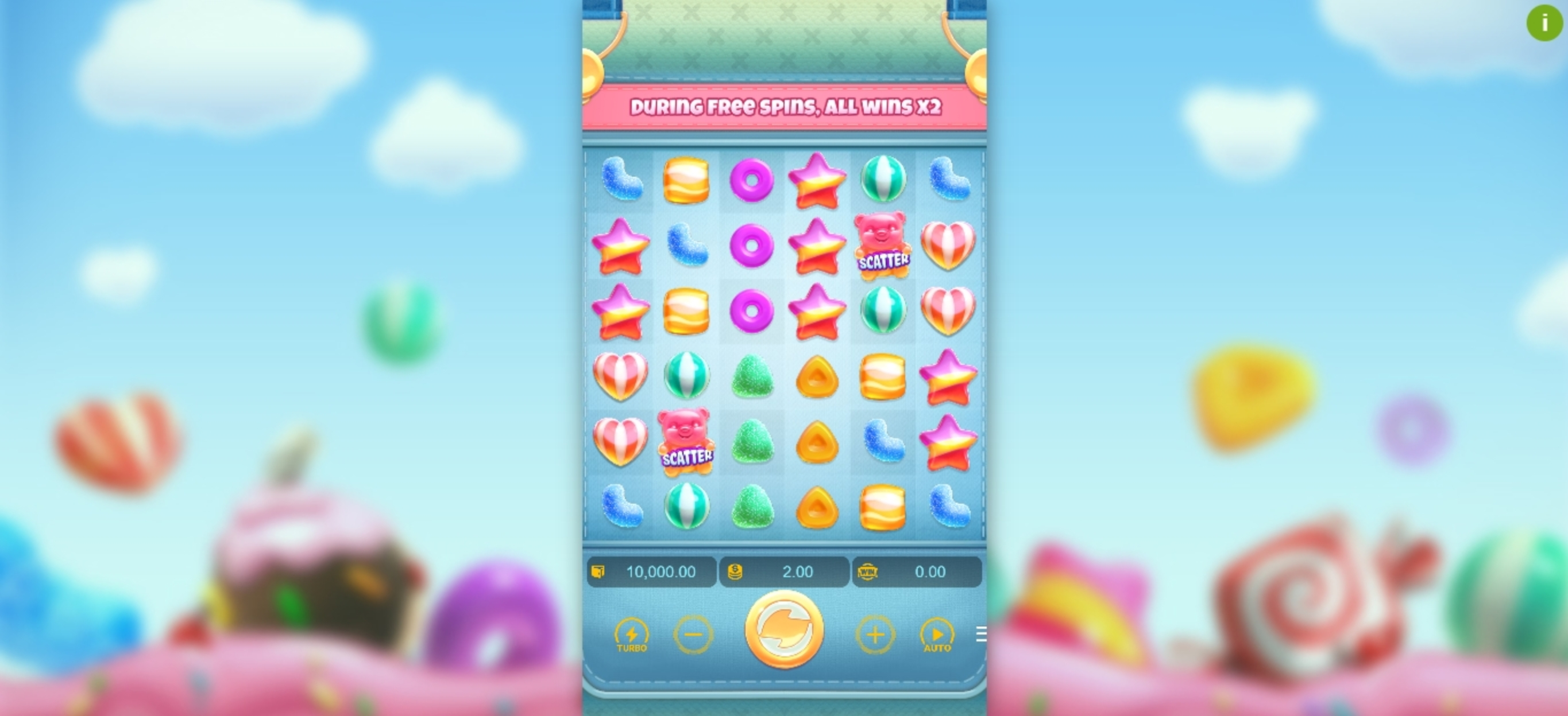 Reels in Candy Burst (PG Soft) Slot Game by PG Soft
