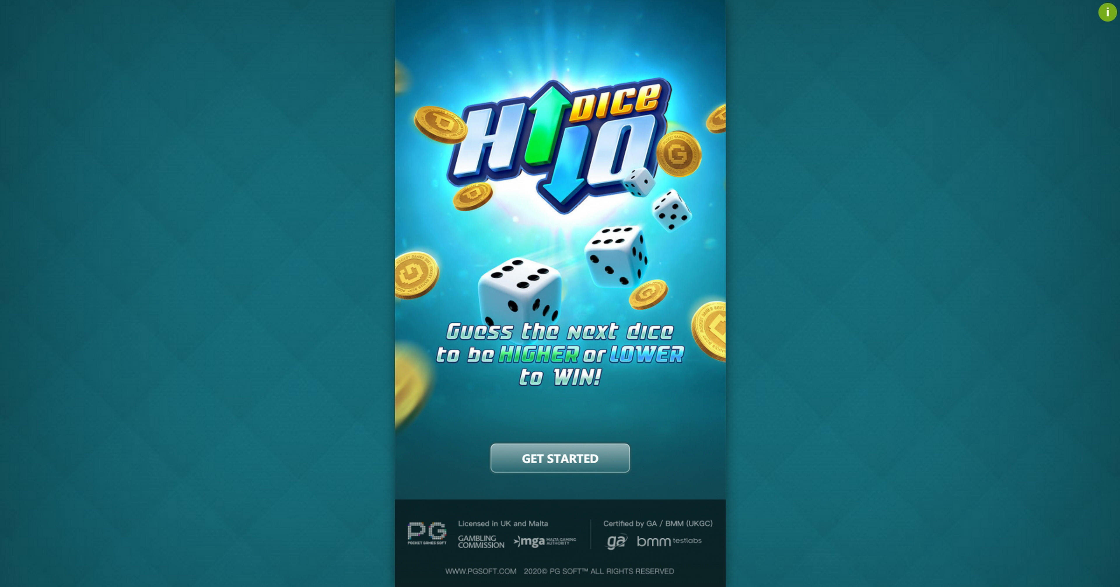 Play Dice Hi Lo (PG Soft) Free Casino Slot Game by PG Soft