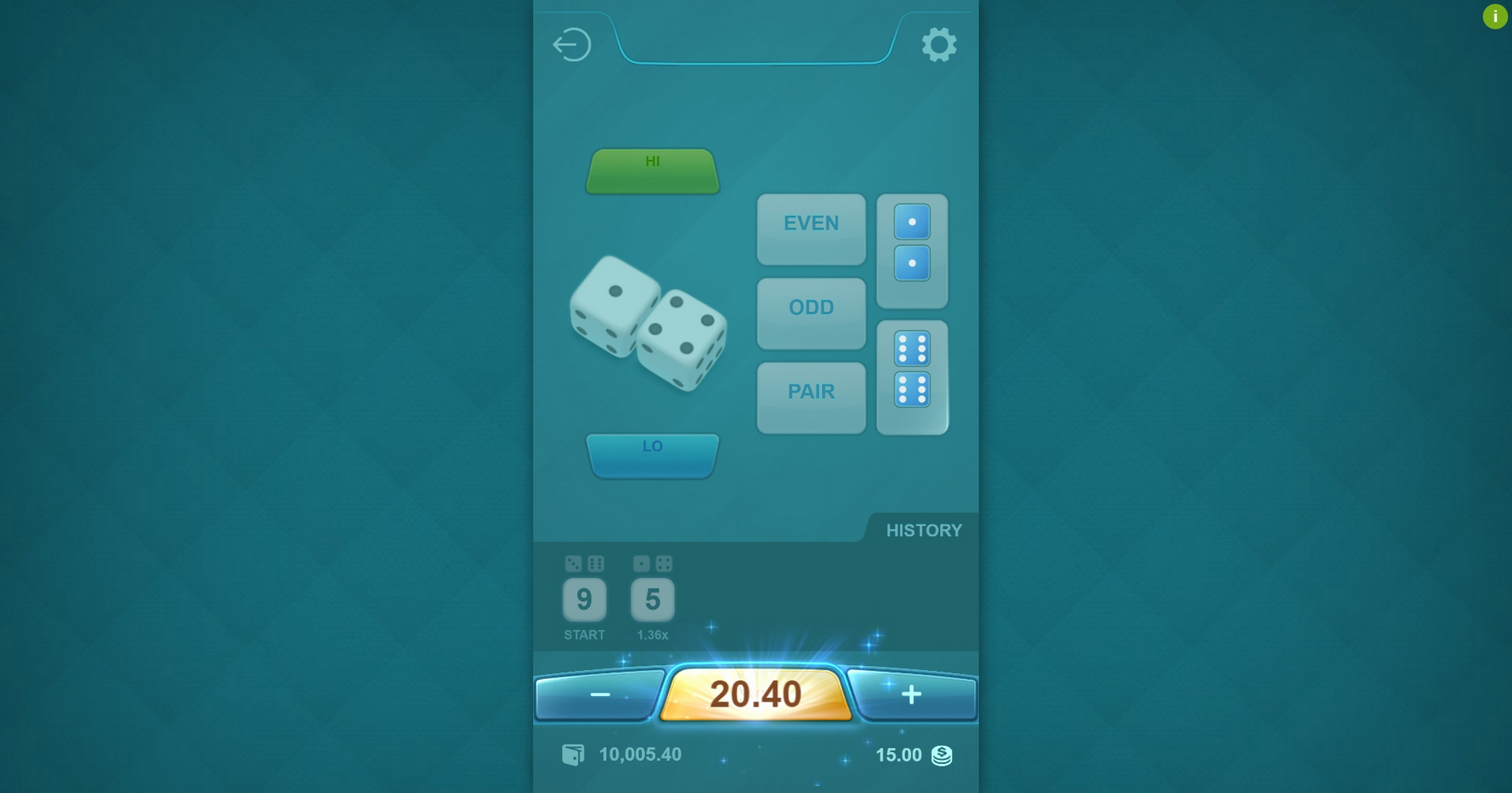 Win Money in Dice Hi Lo (PG Soft) Free Slot Game by PG Soft