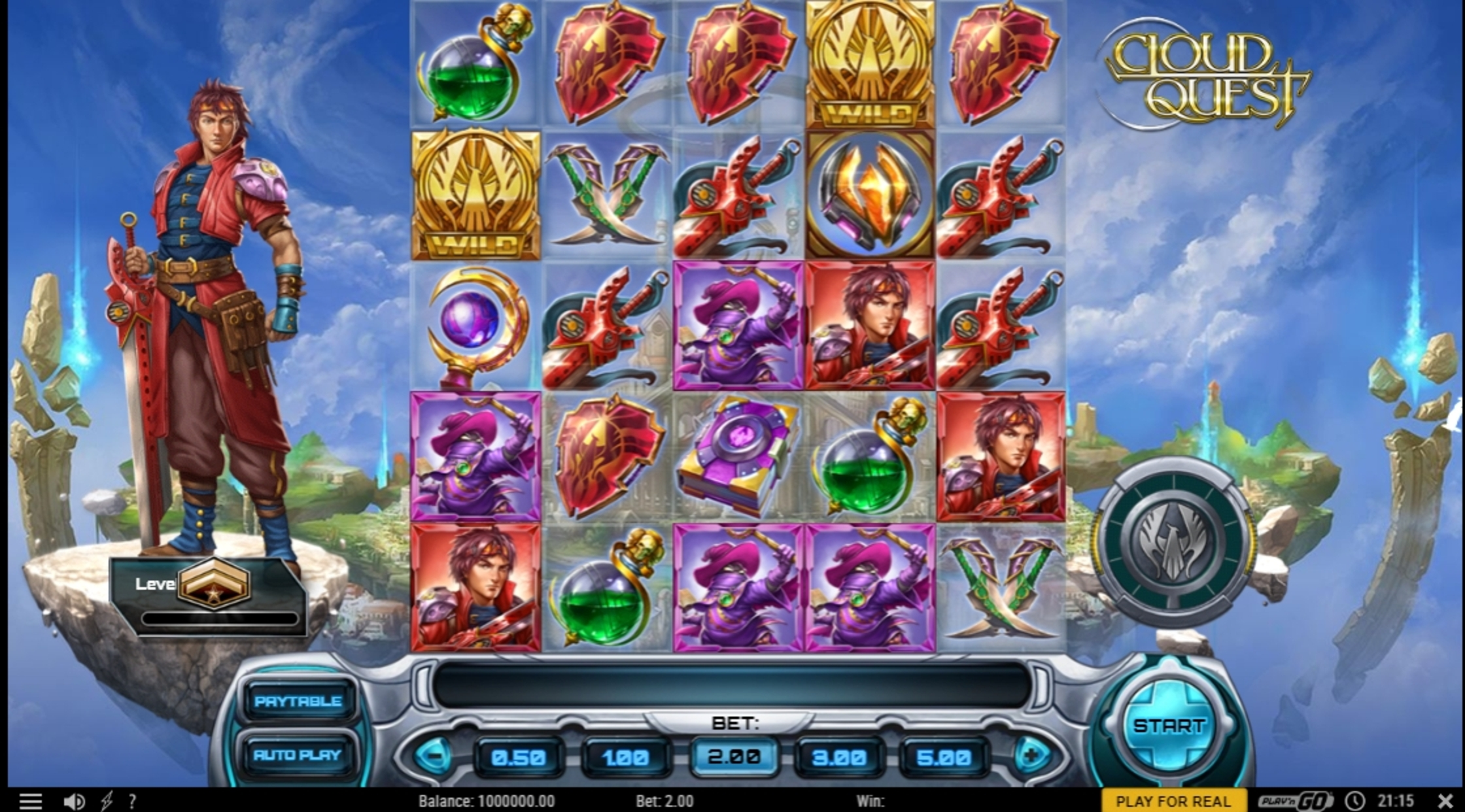 Reels in Cloud Quest Slot Game by Play'n Go