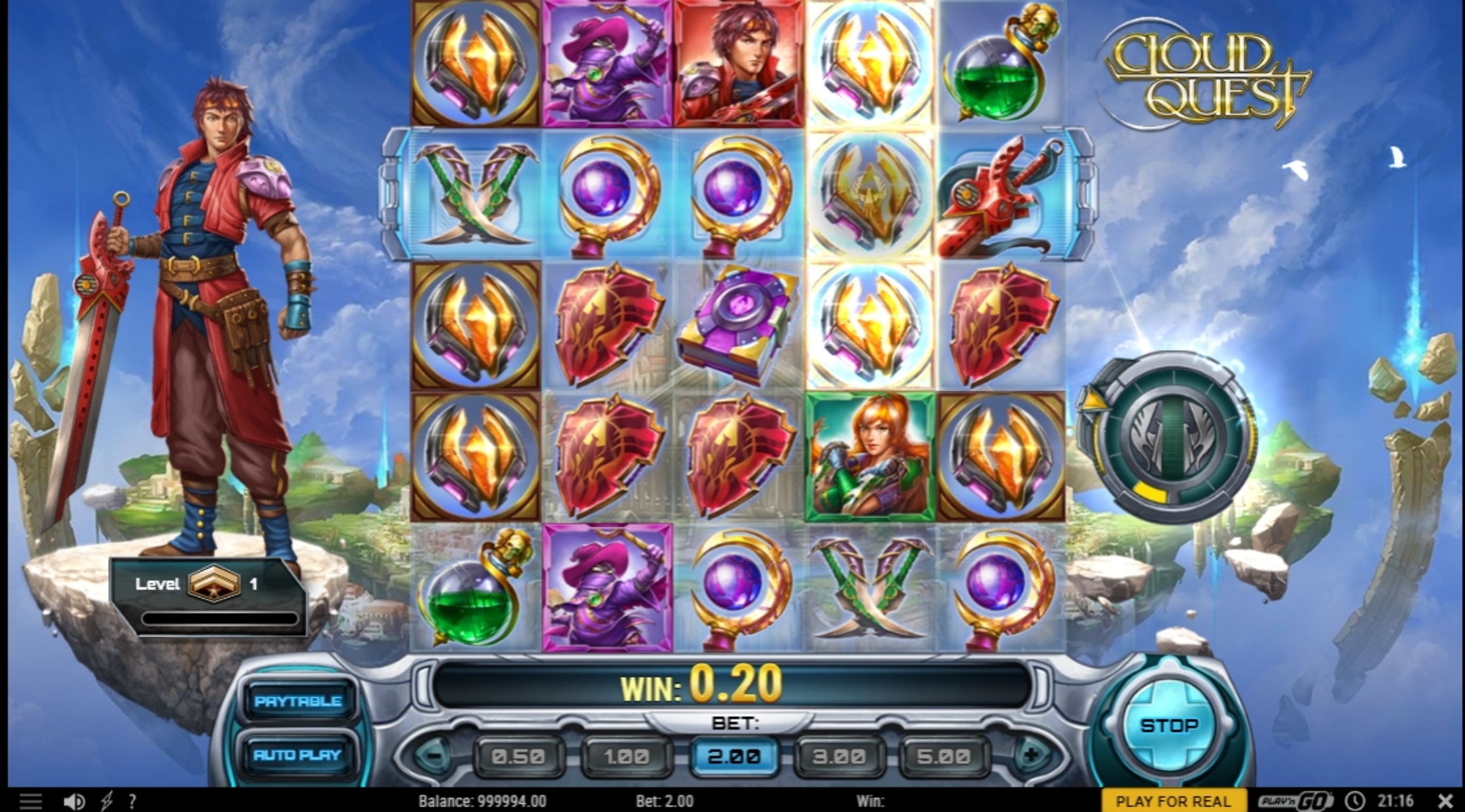 Win Money in Cloud Quest Free Slot Game by Play'n Go