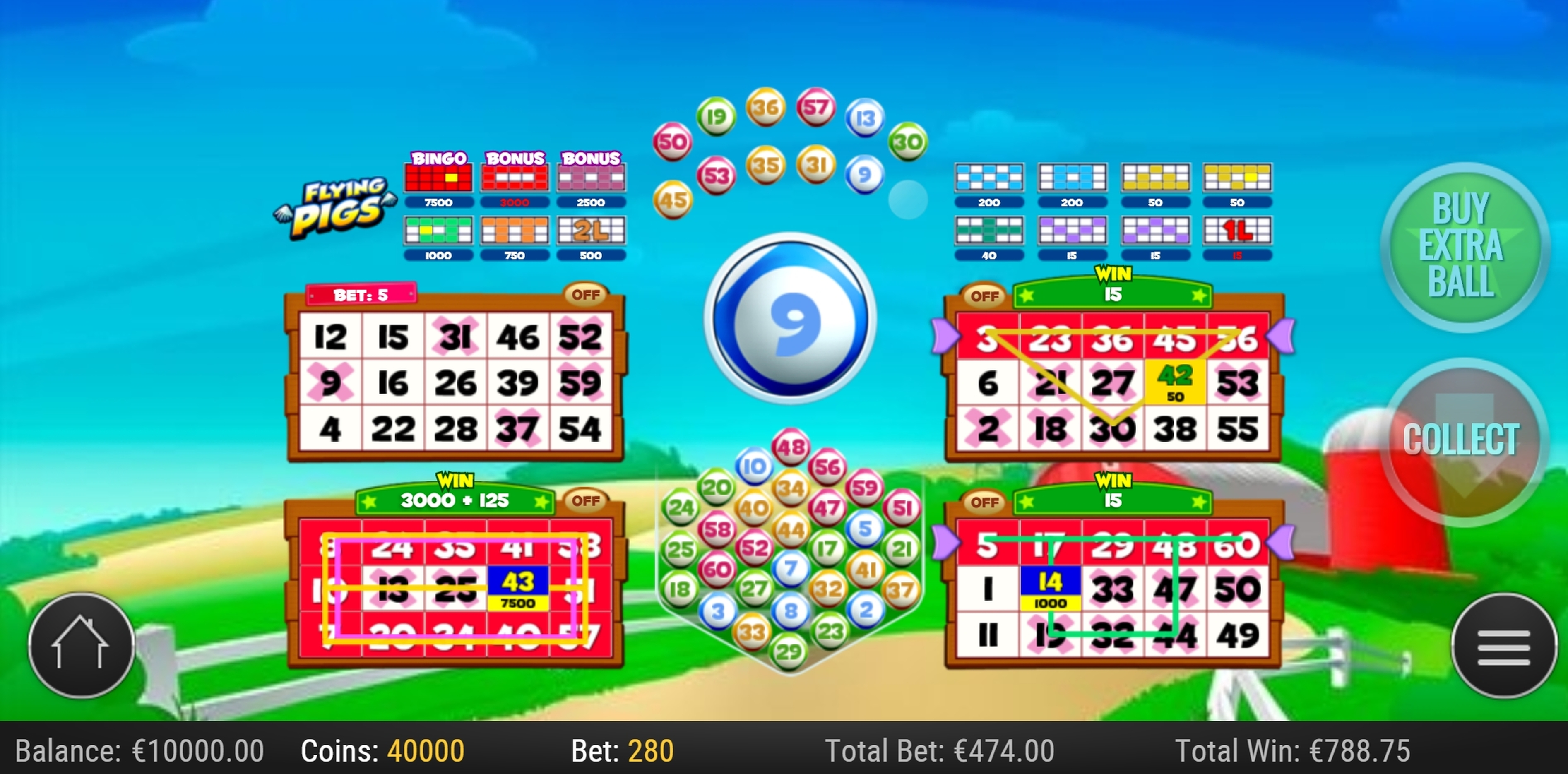 Win Money in Flying Pigs Free Slot Game by Playn GO