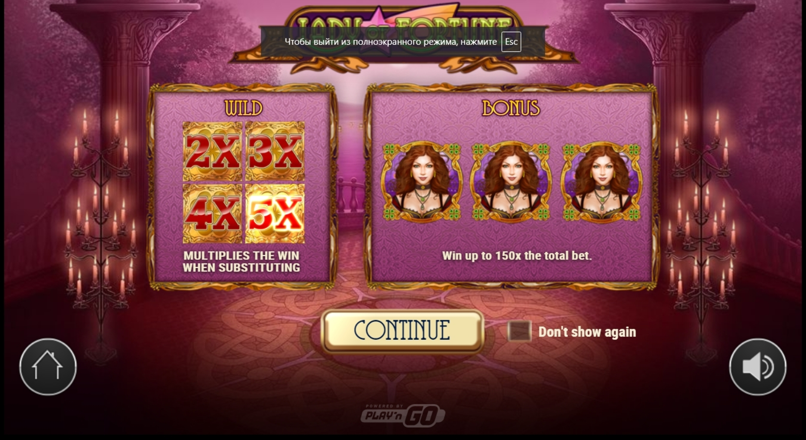 Play Lady of Fortune Free Casino Slot Game by Play'n Go