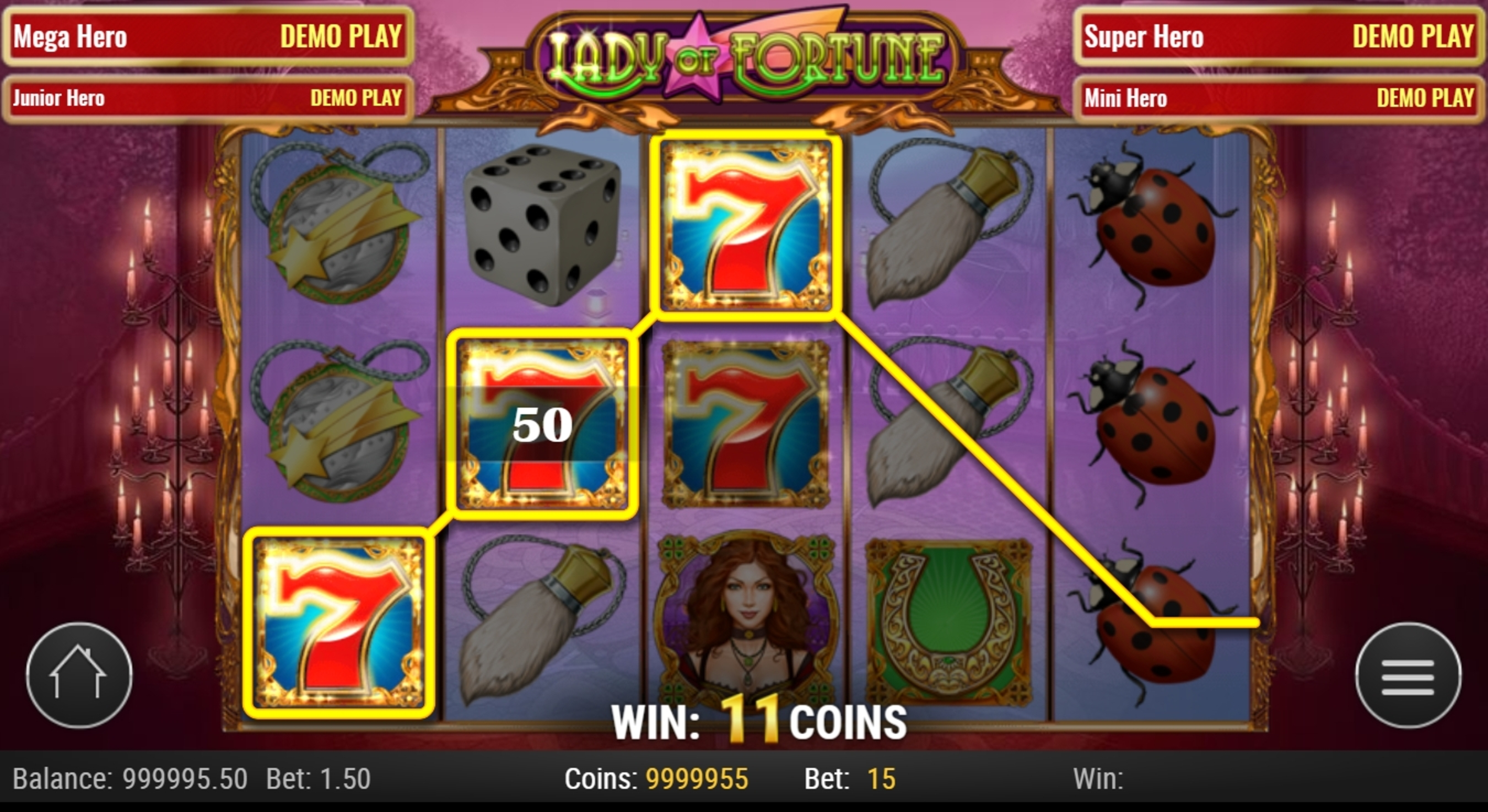 Win Money in Lady of Fortune Free Slot Game by Play'n Go