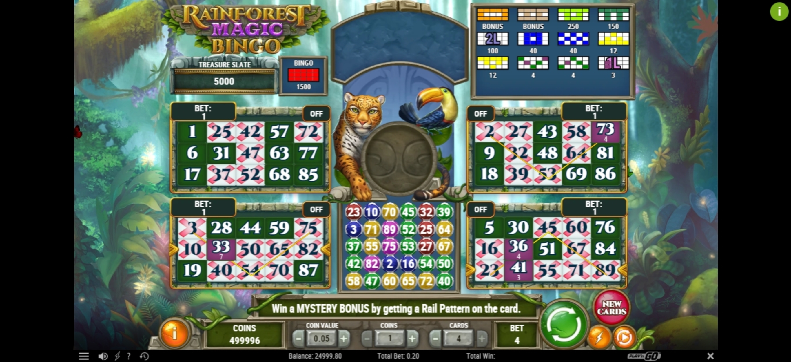 Win Money in Rainforest Magic Bingo Free Slot Game by Play'n Go