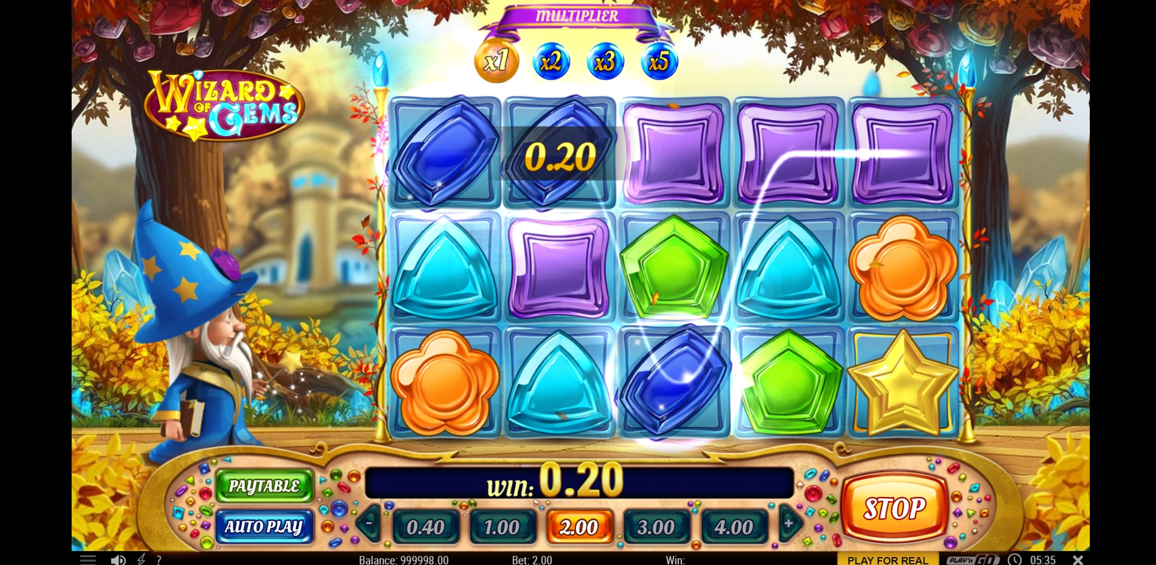 Win Money in Wizard of Gems Free Slot Game by Play'n Go