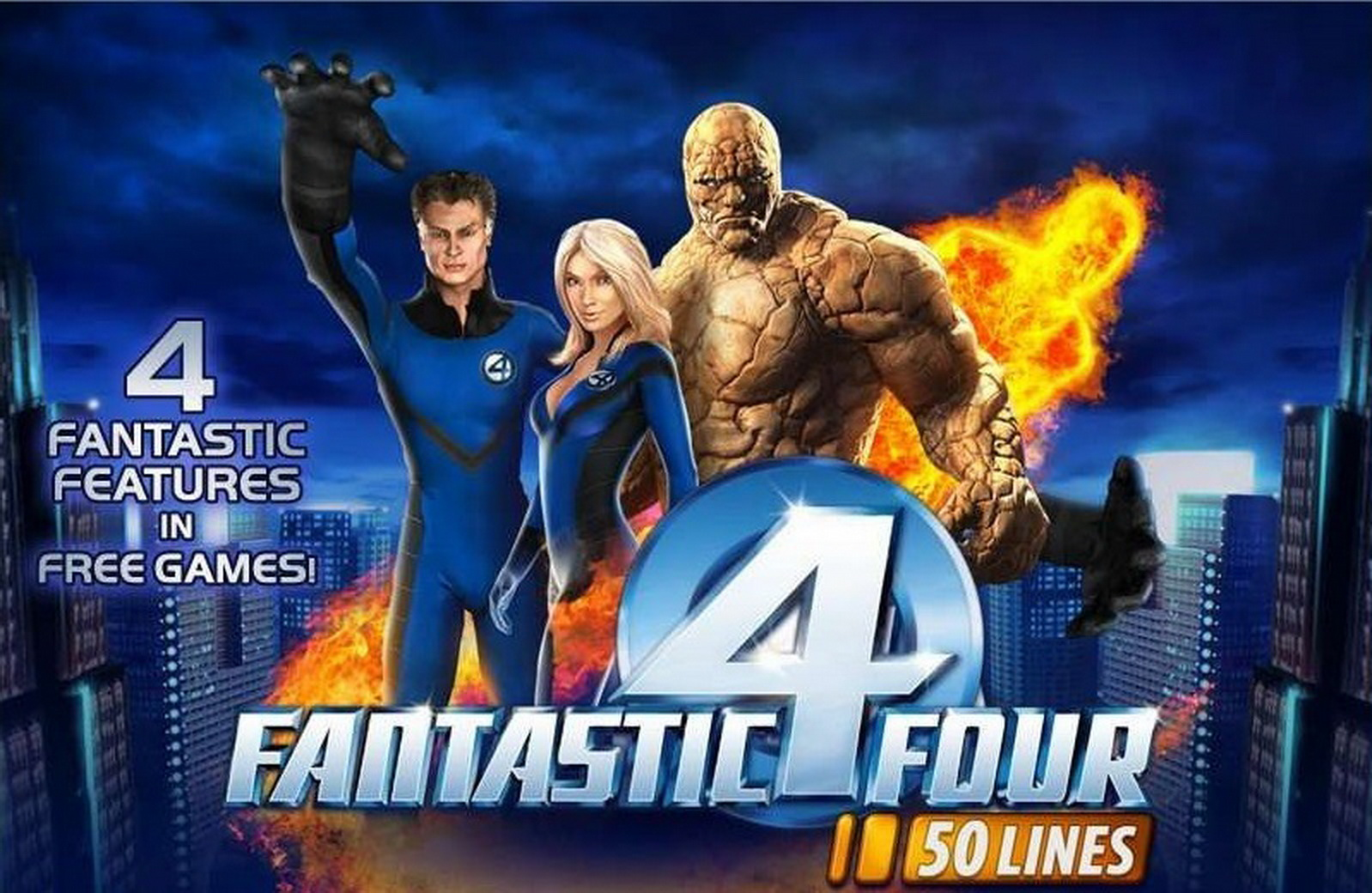 The Fantastic Four 50 lines Online Slot Demo Game by Playtech