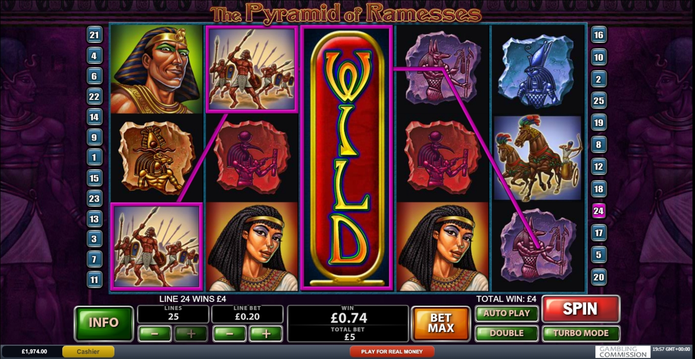 Win Money in The Pyramid of Ramesses (Playtech) Free Slot Game by Playtech