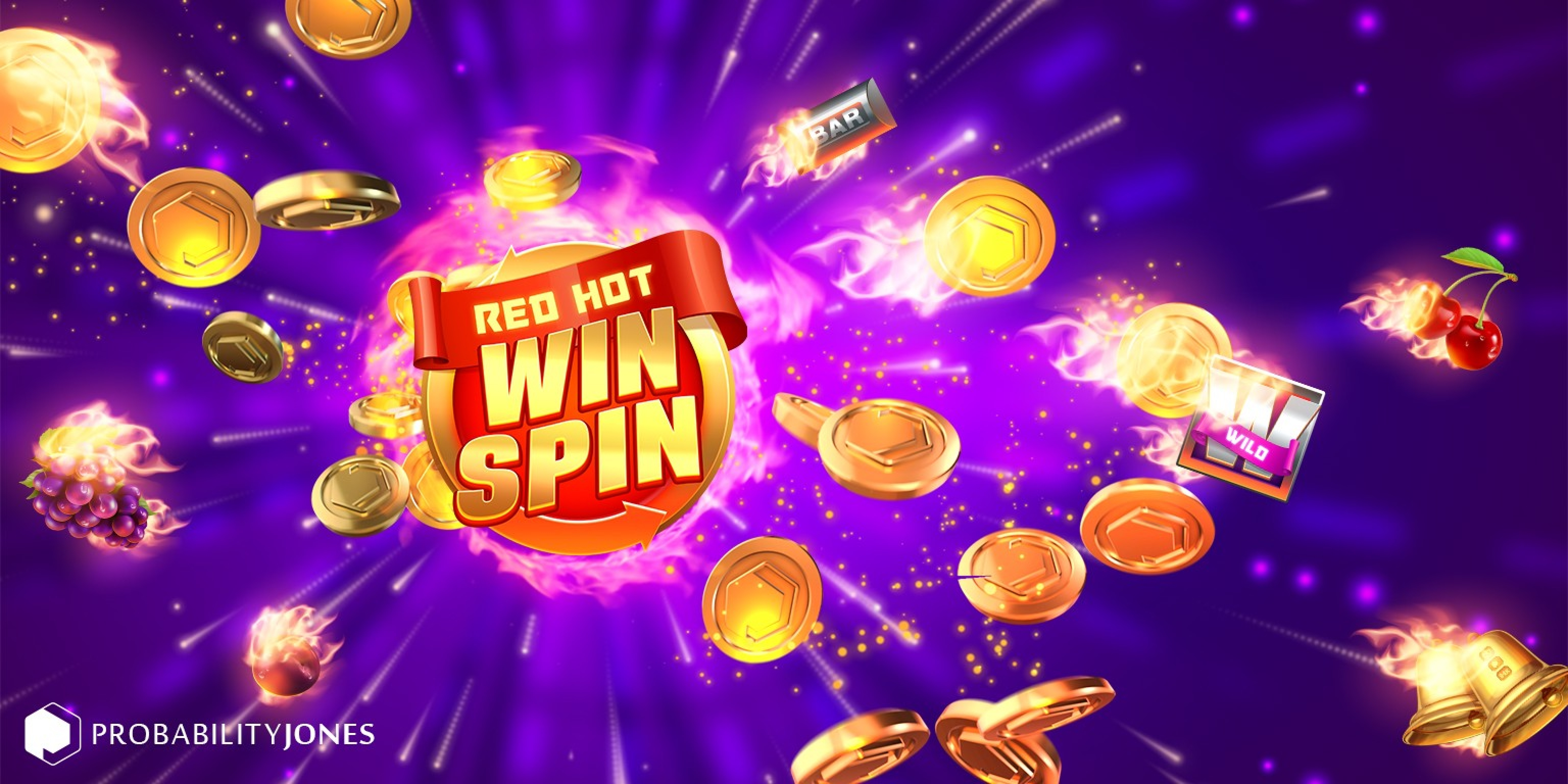 The Red Hot Win Spin Online Slot Demo Game by Probability Jones