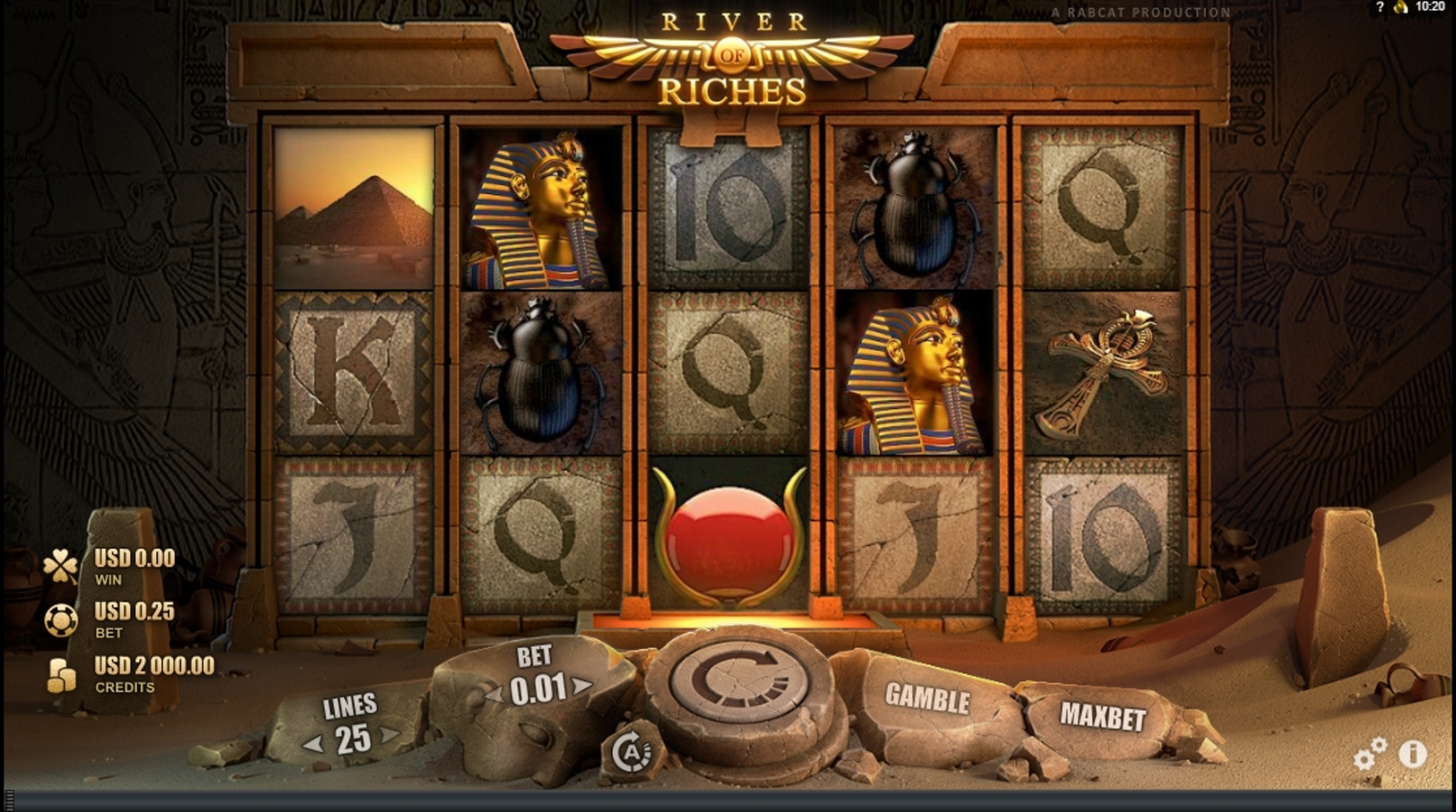 Reels in River of Riches Slot Game by Rabcat