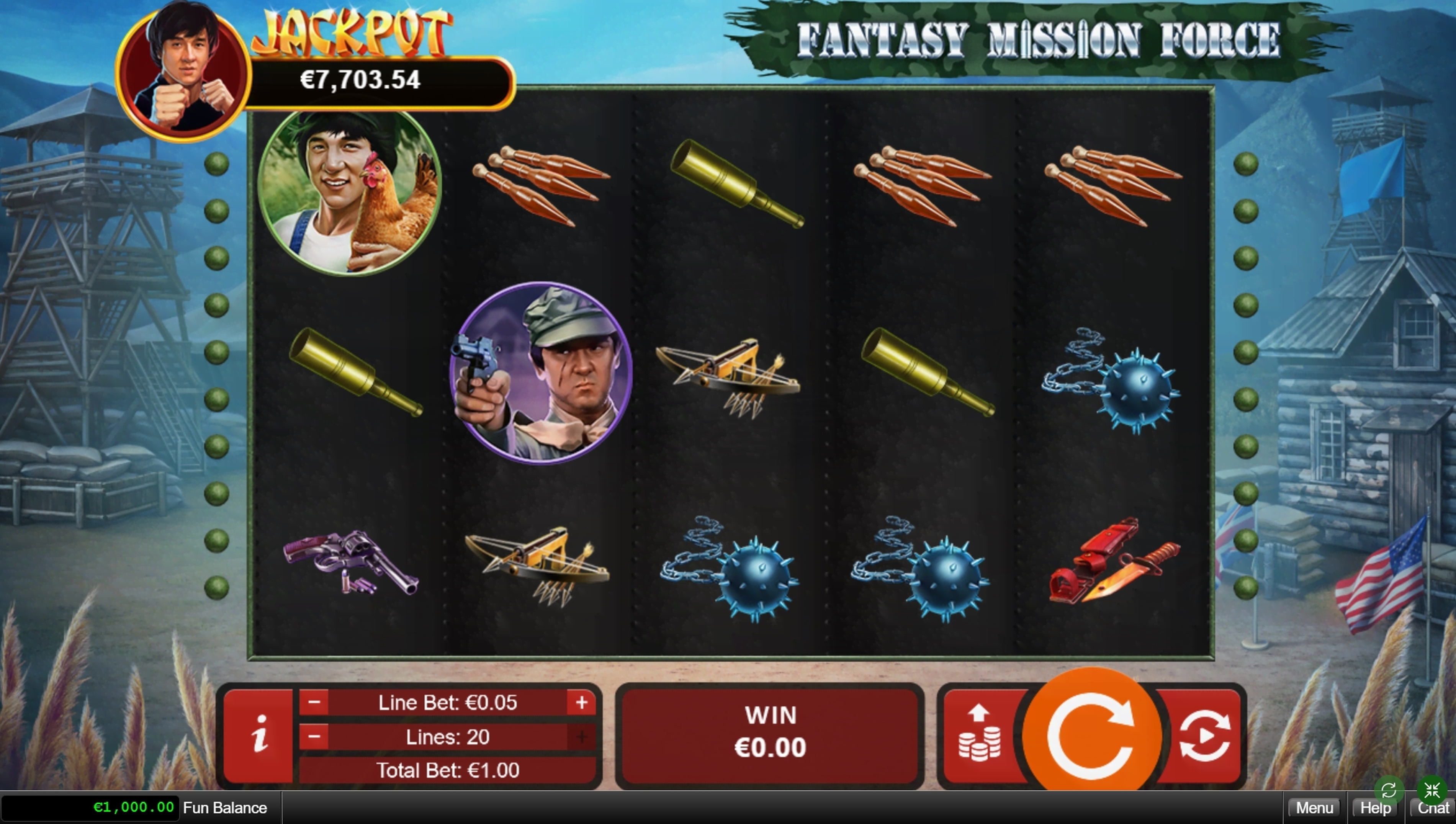 Reels in Fantasy Mission Force Slot Game by RTG