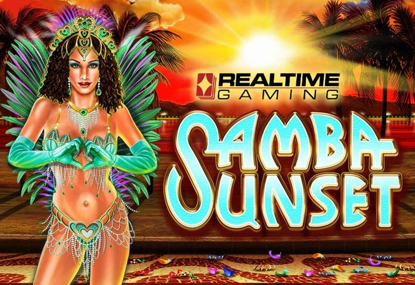 The Samba Sunset Online Slot Demo Game by Real Time Gaming