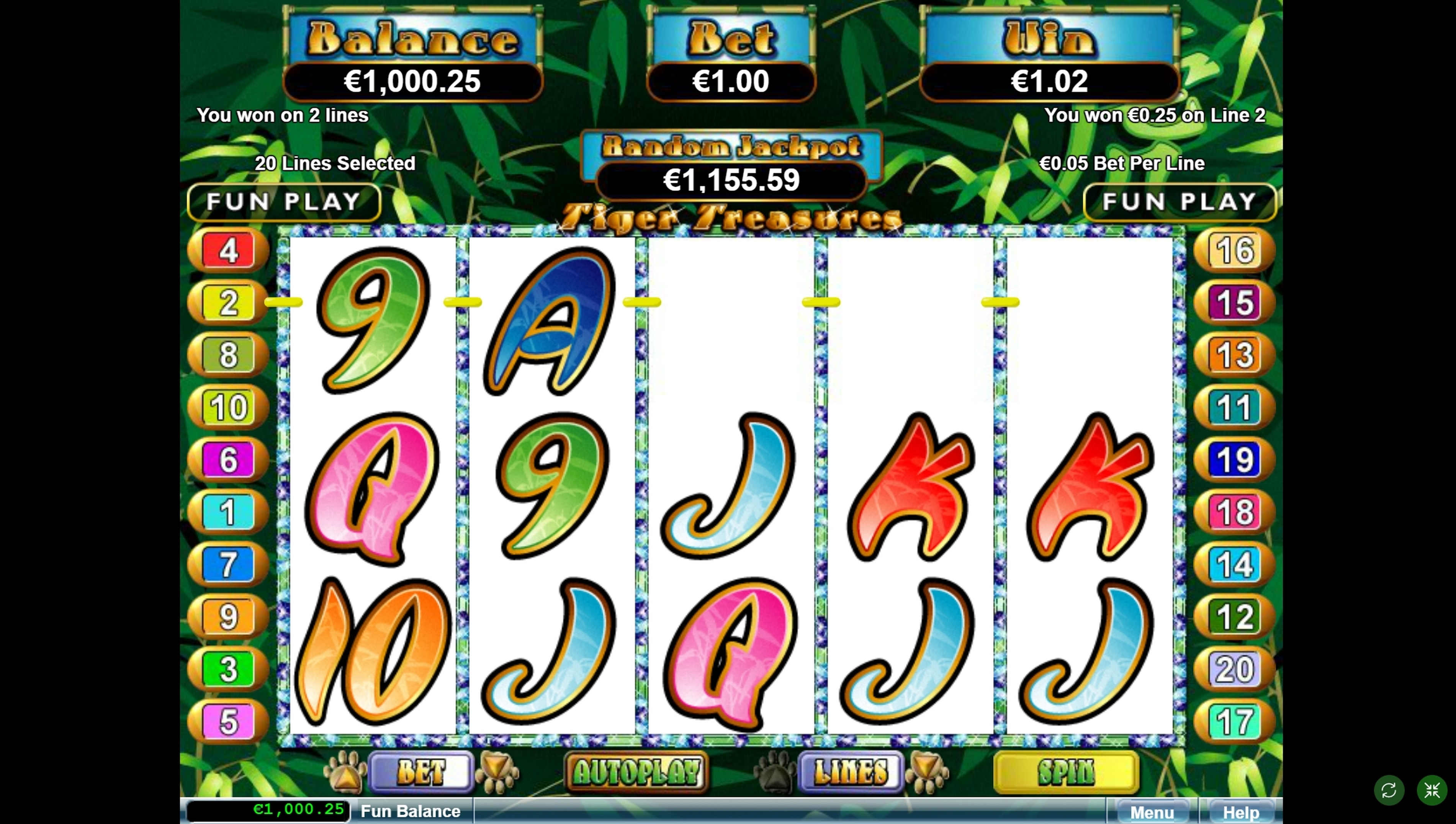Win Money in Tiger Treasures Free Slot Game by Real Time Gaming