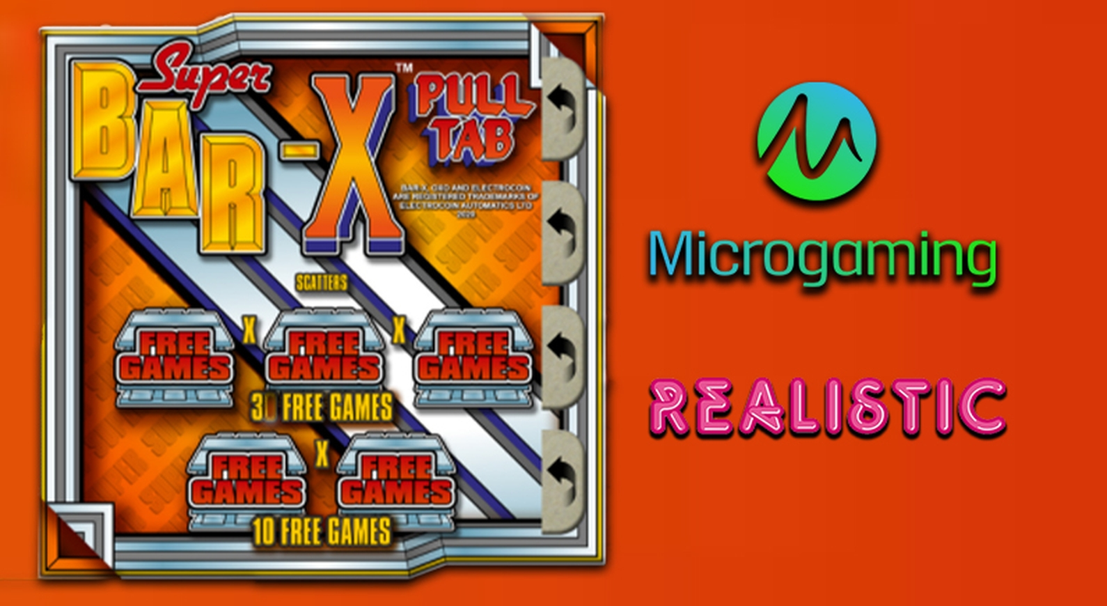 The Bar-X Pull Tab Online Slot Demo Game by Realistic Games