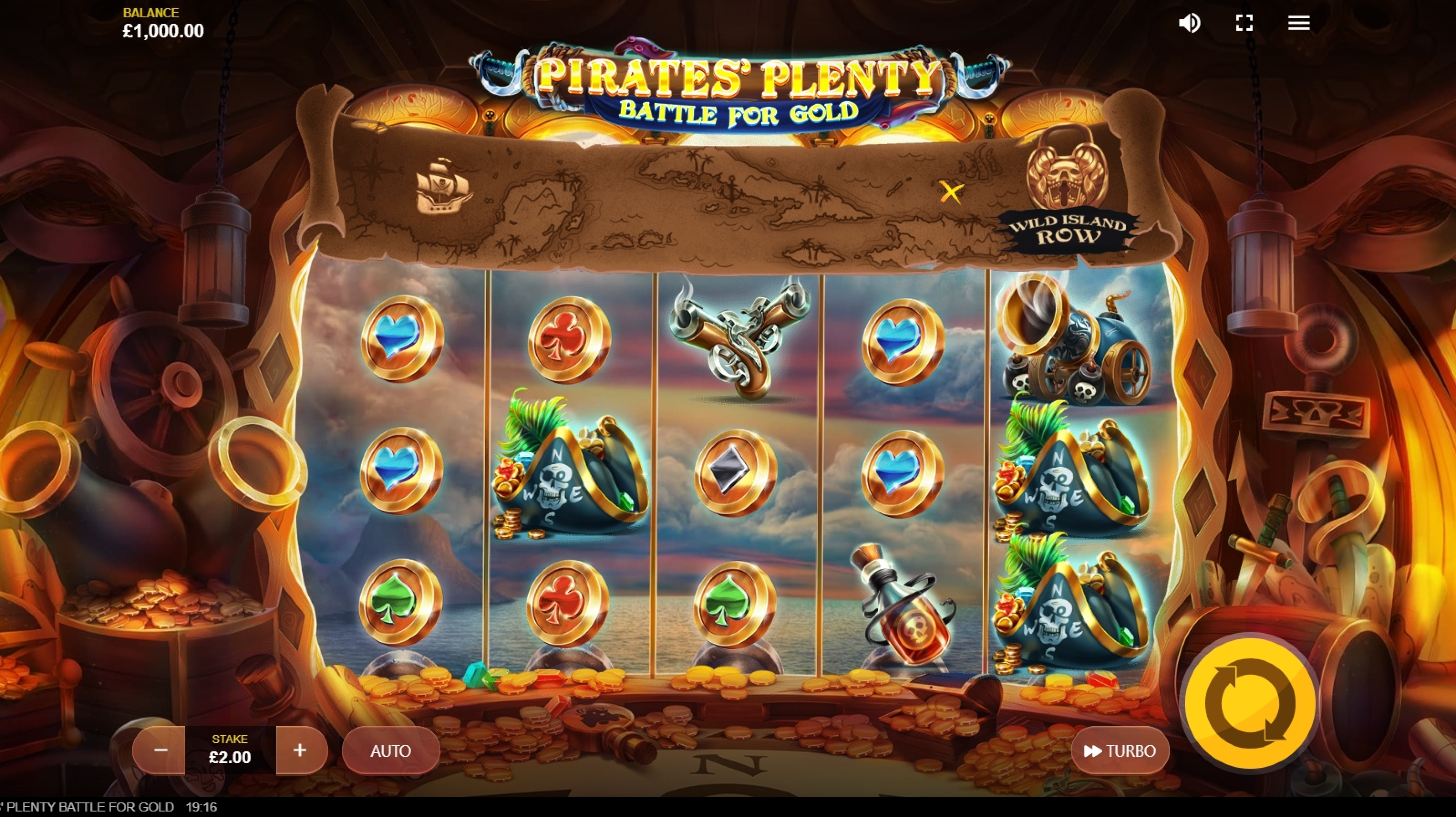 Reels in Pirates Plenty Battle for Gold Slot Game by Red Tiger Gaming