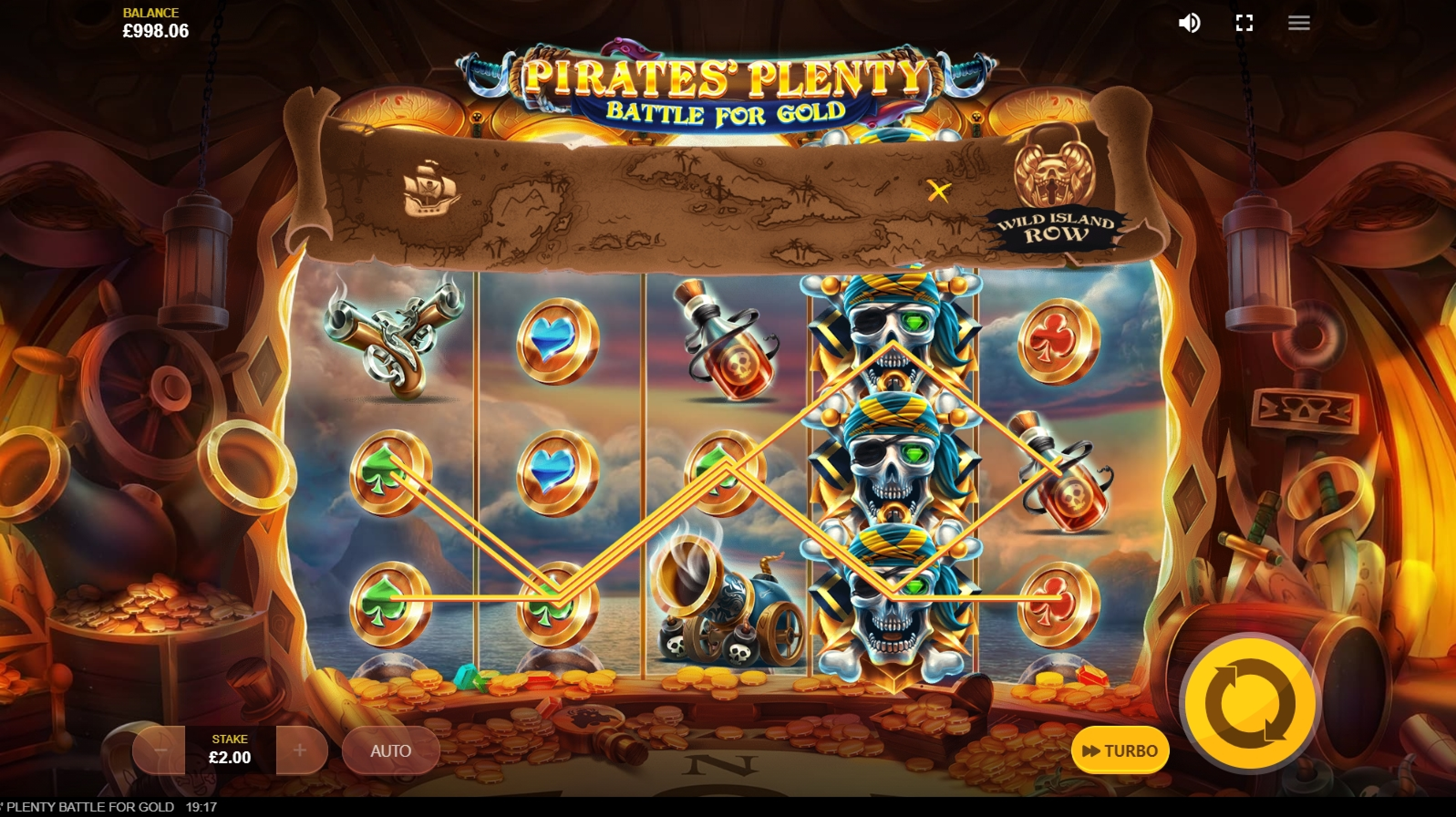 Win Money in Pirates Plenty Battle for Gold Free Slot Game by Red Tiger Gaming