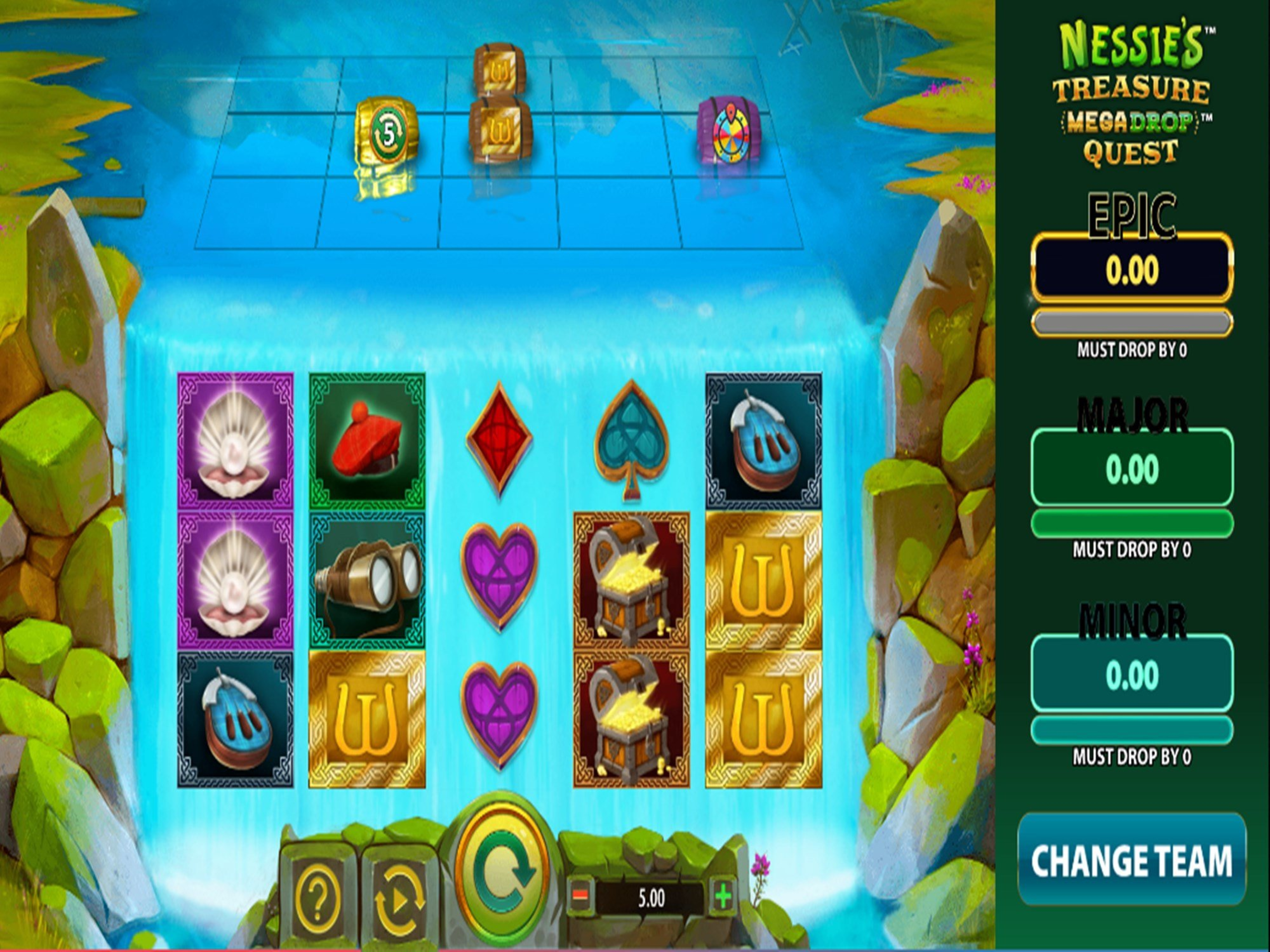 The Nessie's Treasure Mega Drop Quest Online Slot Demo Game by Red7 Mobile