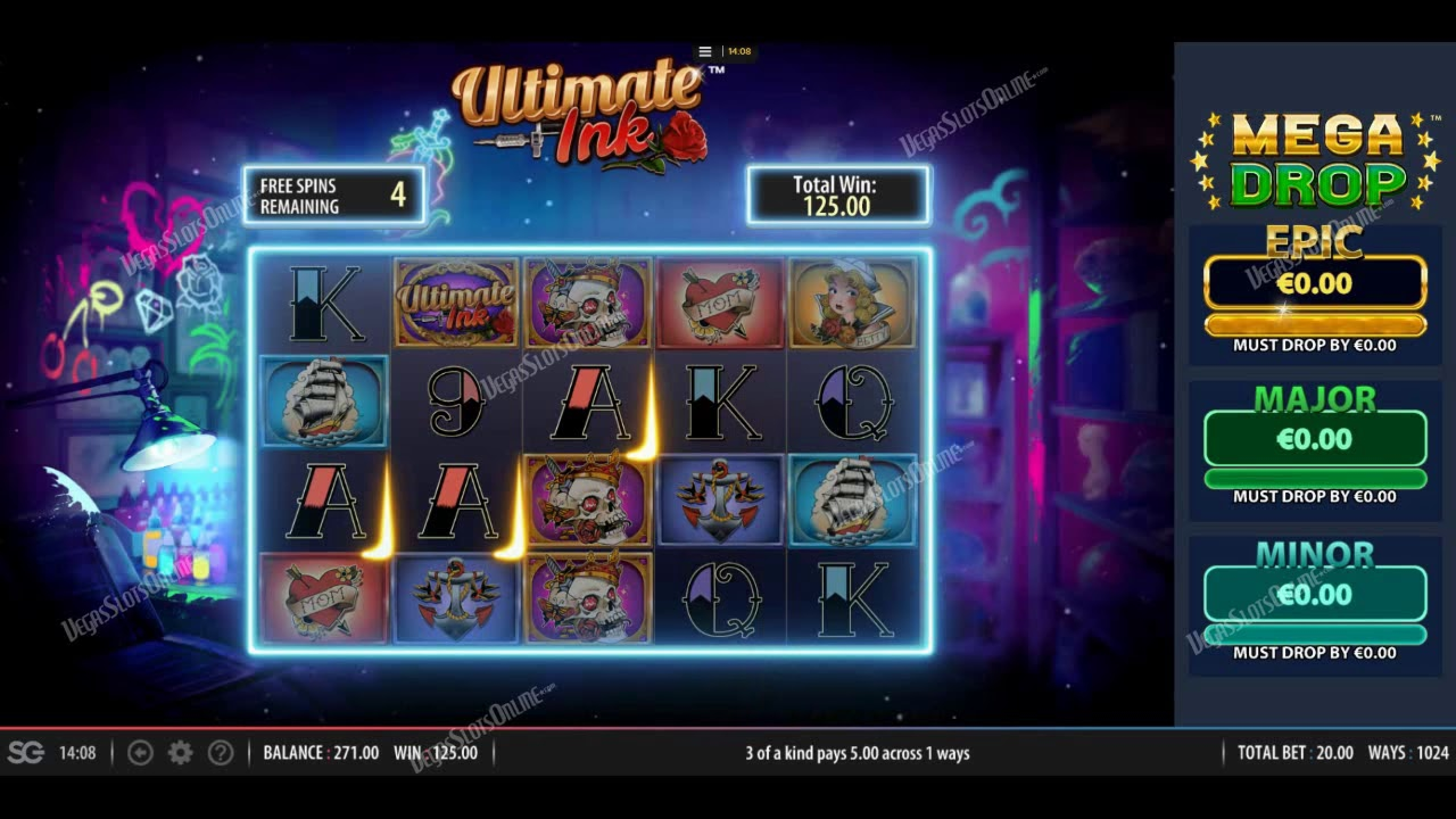 The Ultimate Ink Online Slot Demo Game by Red7 Mobile