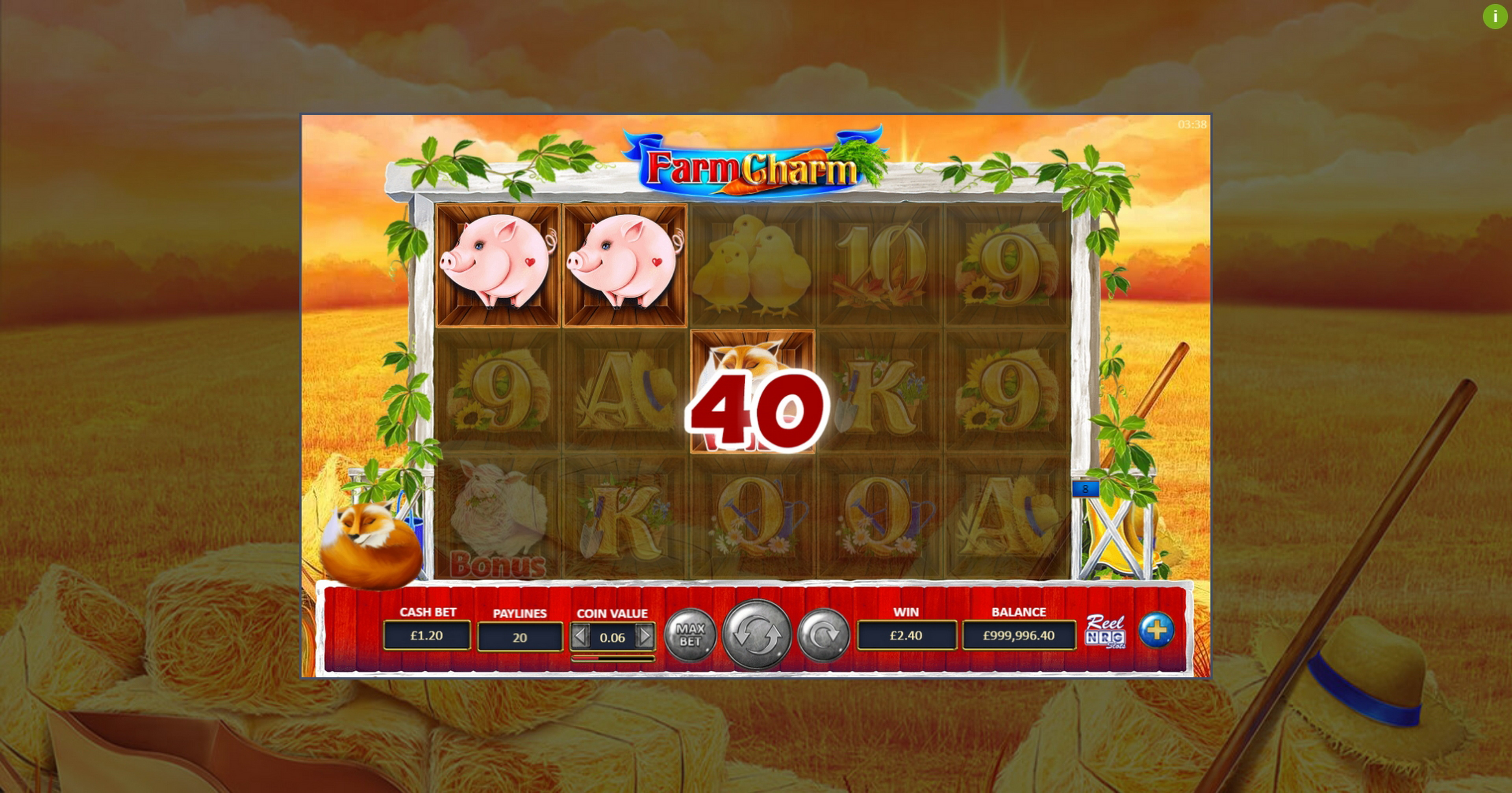 Win Money in Farm Charm Free Slot Game by ReelNRG