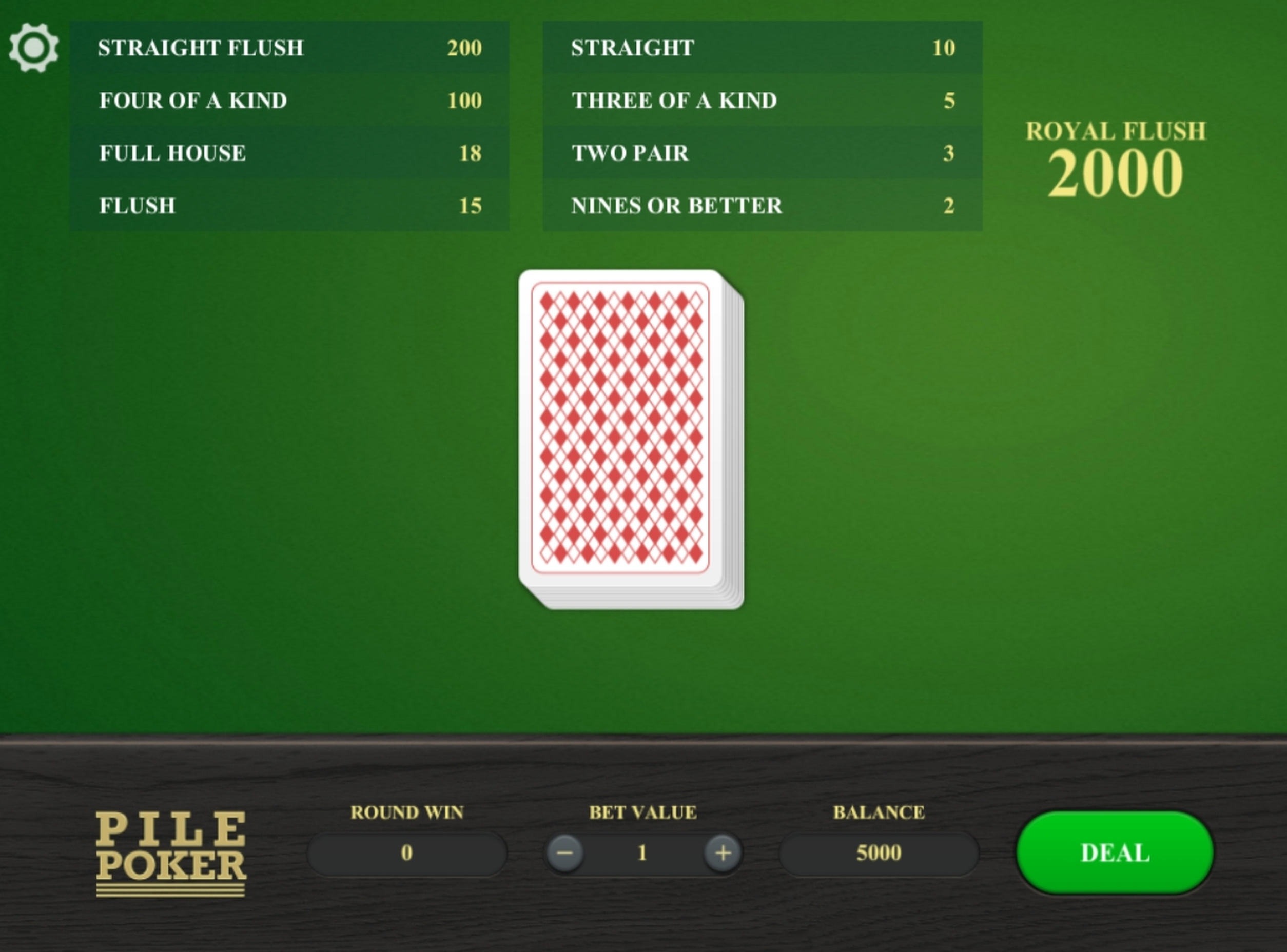 Reels in Pile Poker Slot Game by Relax Gaming