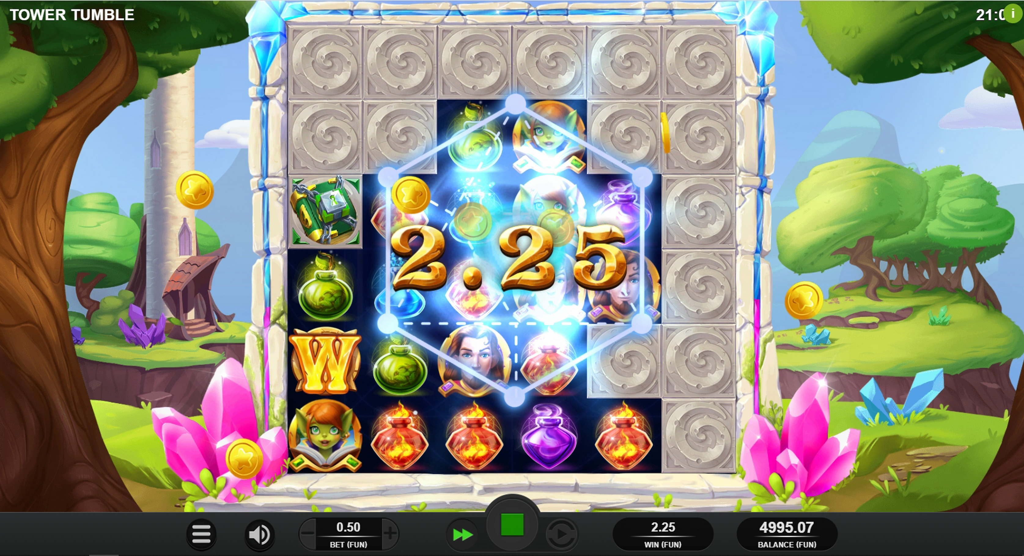 Win Money in Tower Tumble Free Slot Game by Relax Gaming