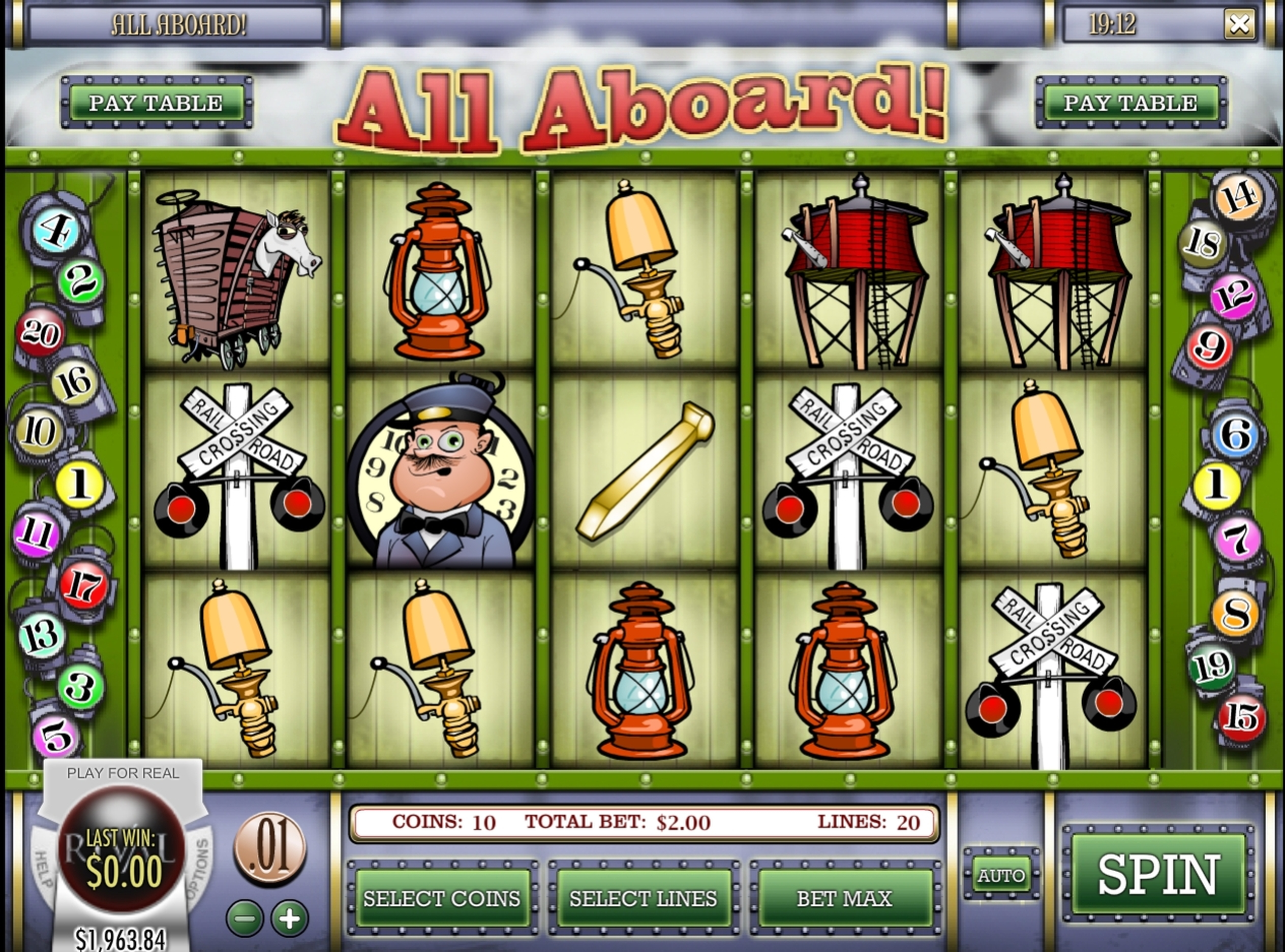 Reels in All Aboard Slot Game by Rival
