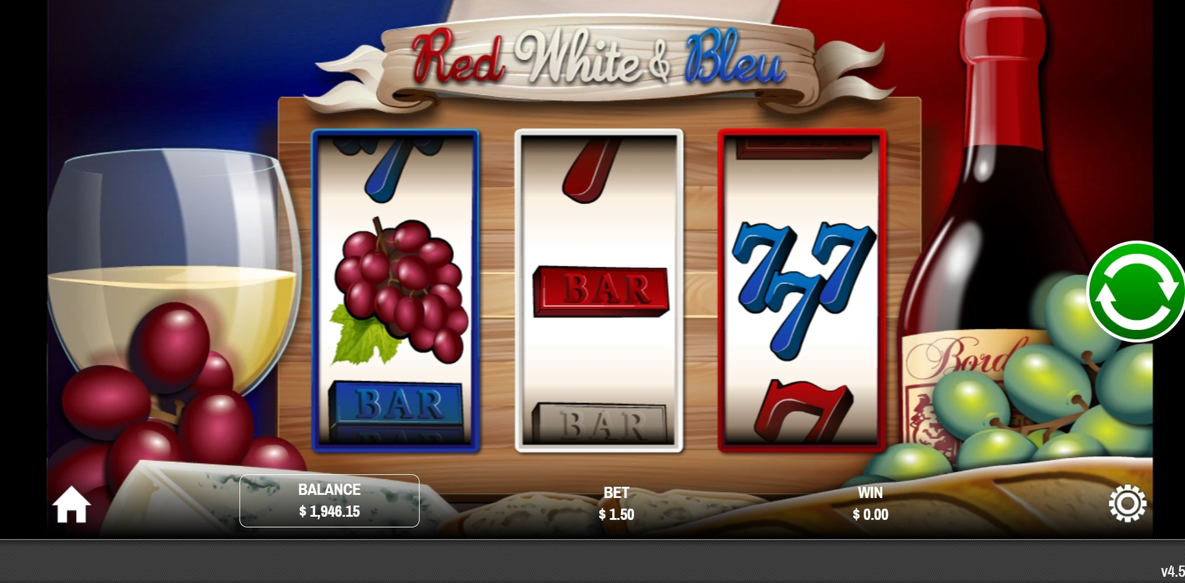 Reels in Red White and Bleu Slot Game by Rival