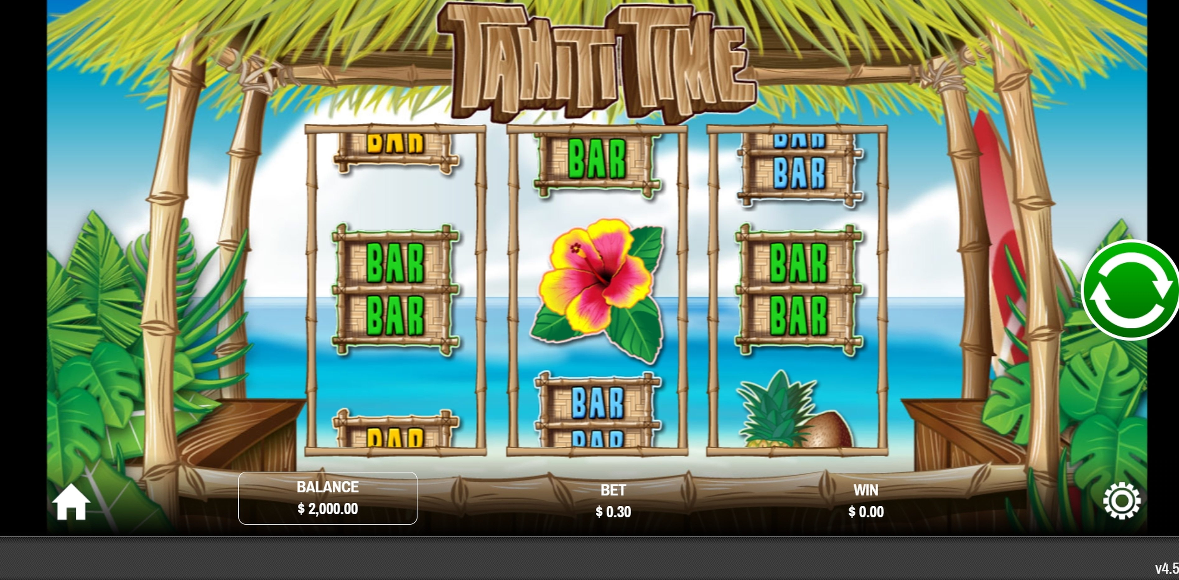 Reels in Tahiti Time Slot Game by Rival