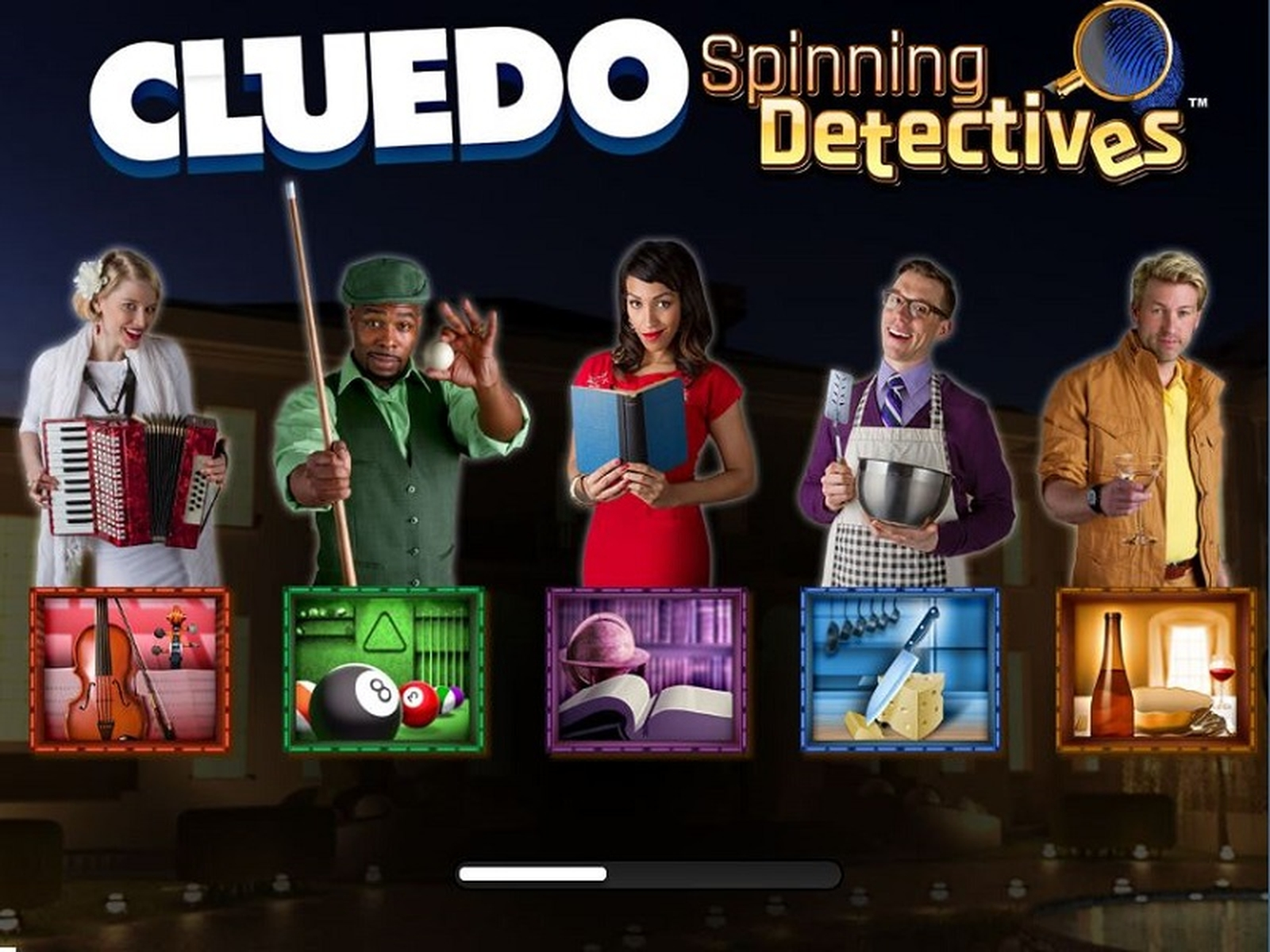 The CLUEDO Spinning Detectives Online Slot Demo Game by WMS