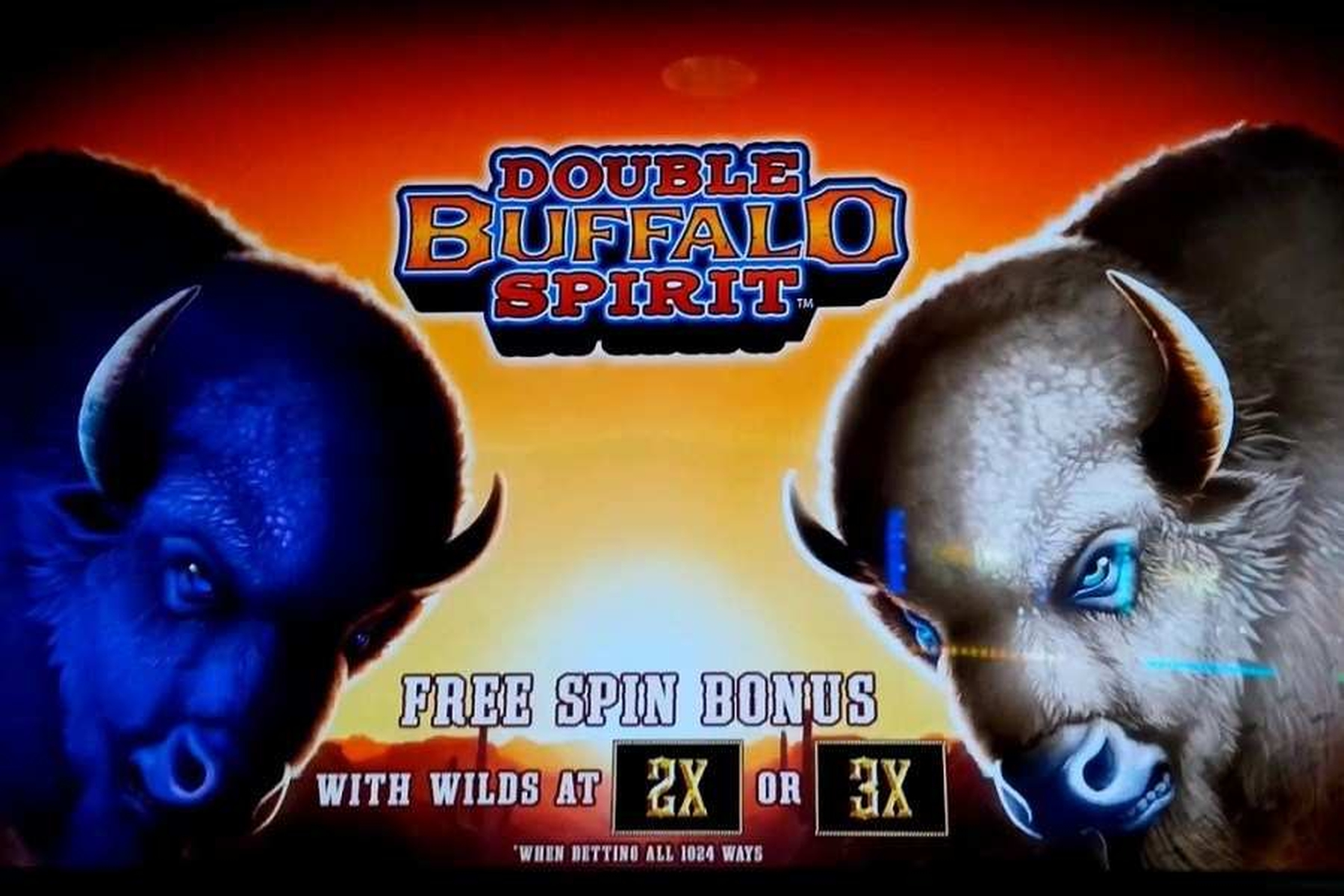 The Double Buffalo Spirit Online Slot Demo Game by WMS